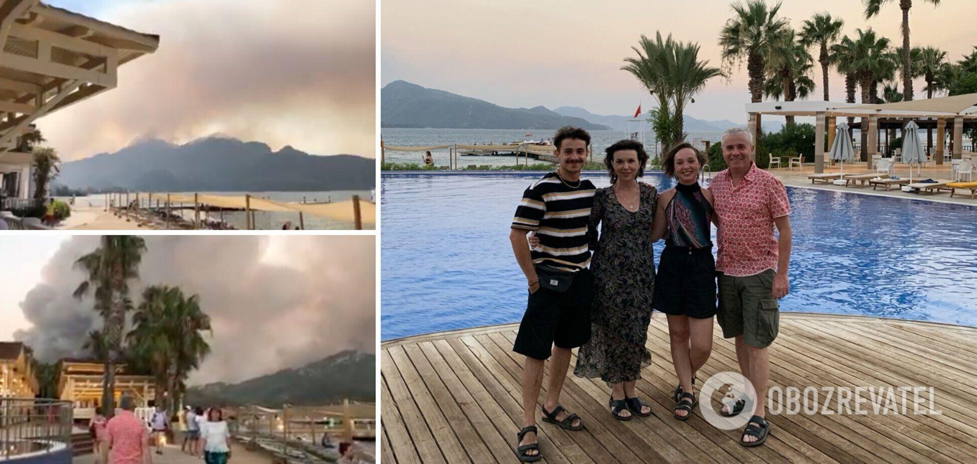 Пожары в Турции испортили отдых семье журналистаКонстантина Грубича