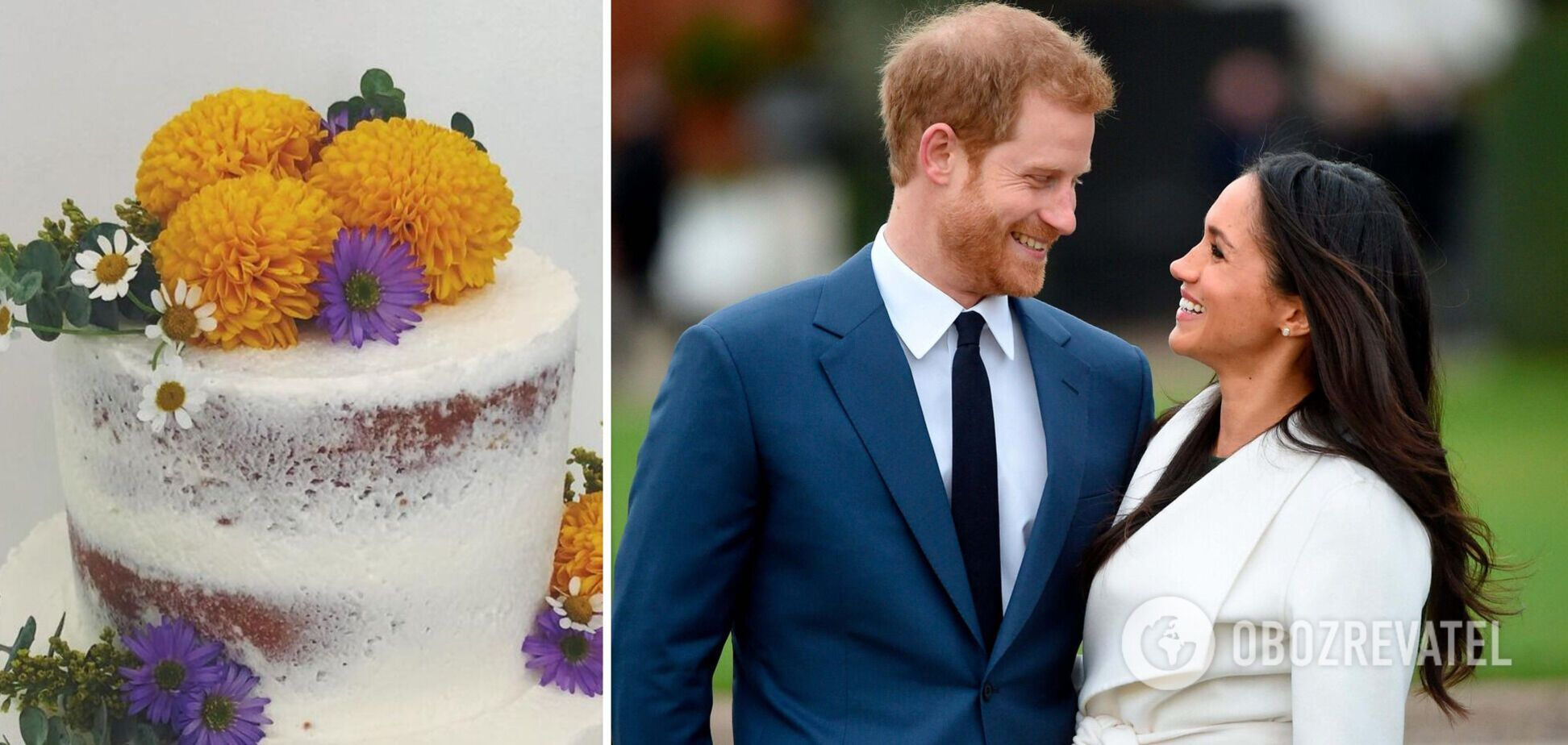 Принц Гарри заказал 'голый' торт для Меган Маркл