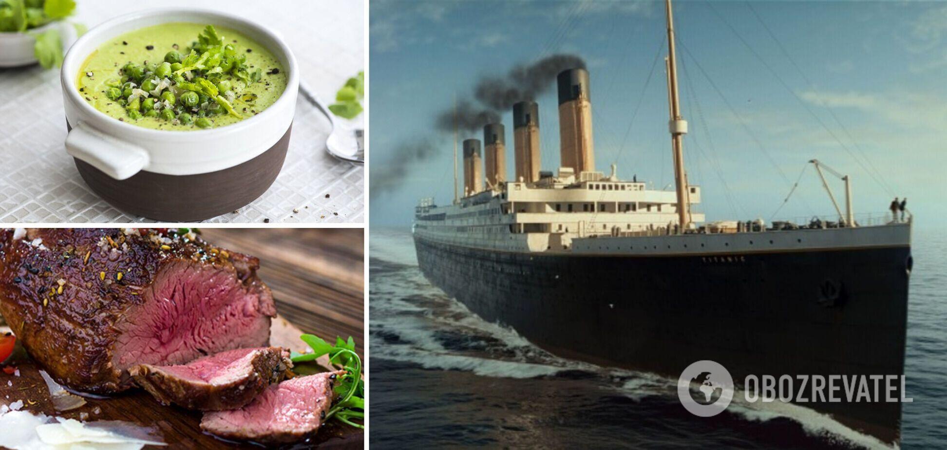 На 'Титанике' изысканно кормили только пассажиров первого класса