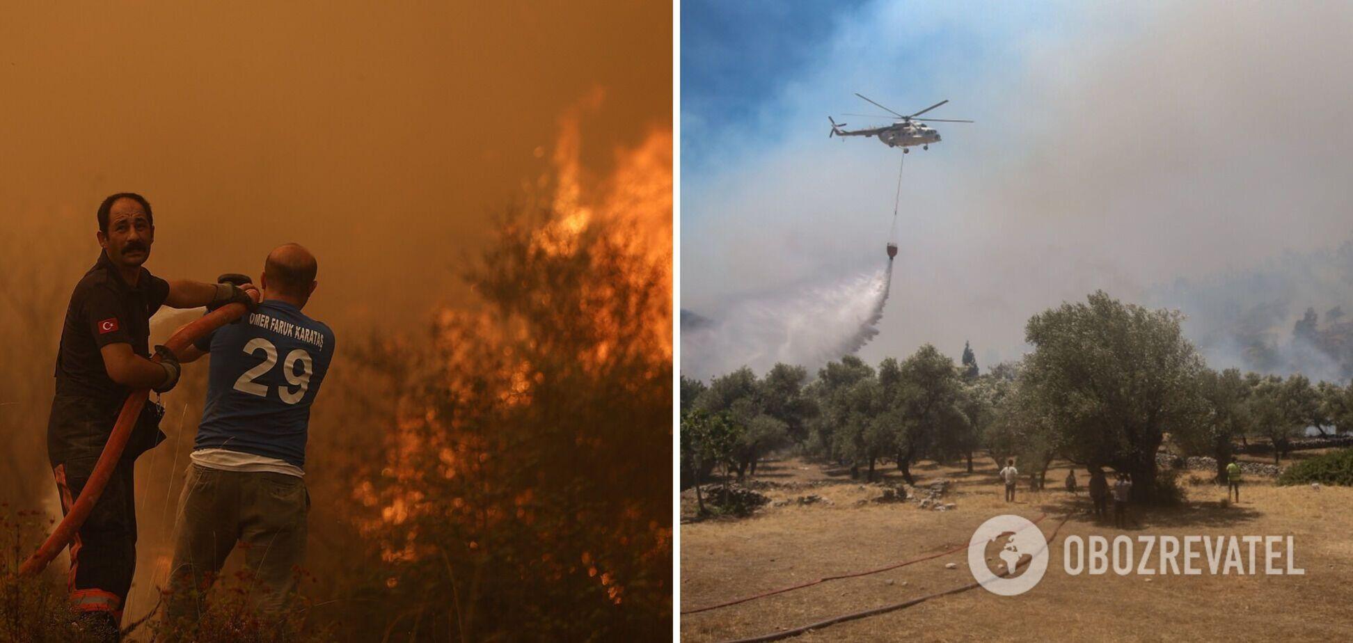 У Туреччині продовжують гасити пожежі