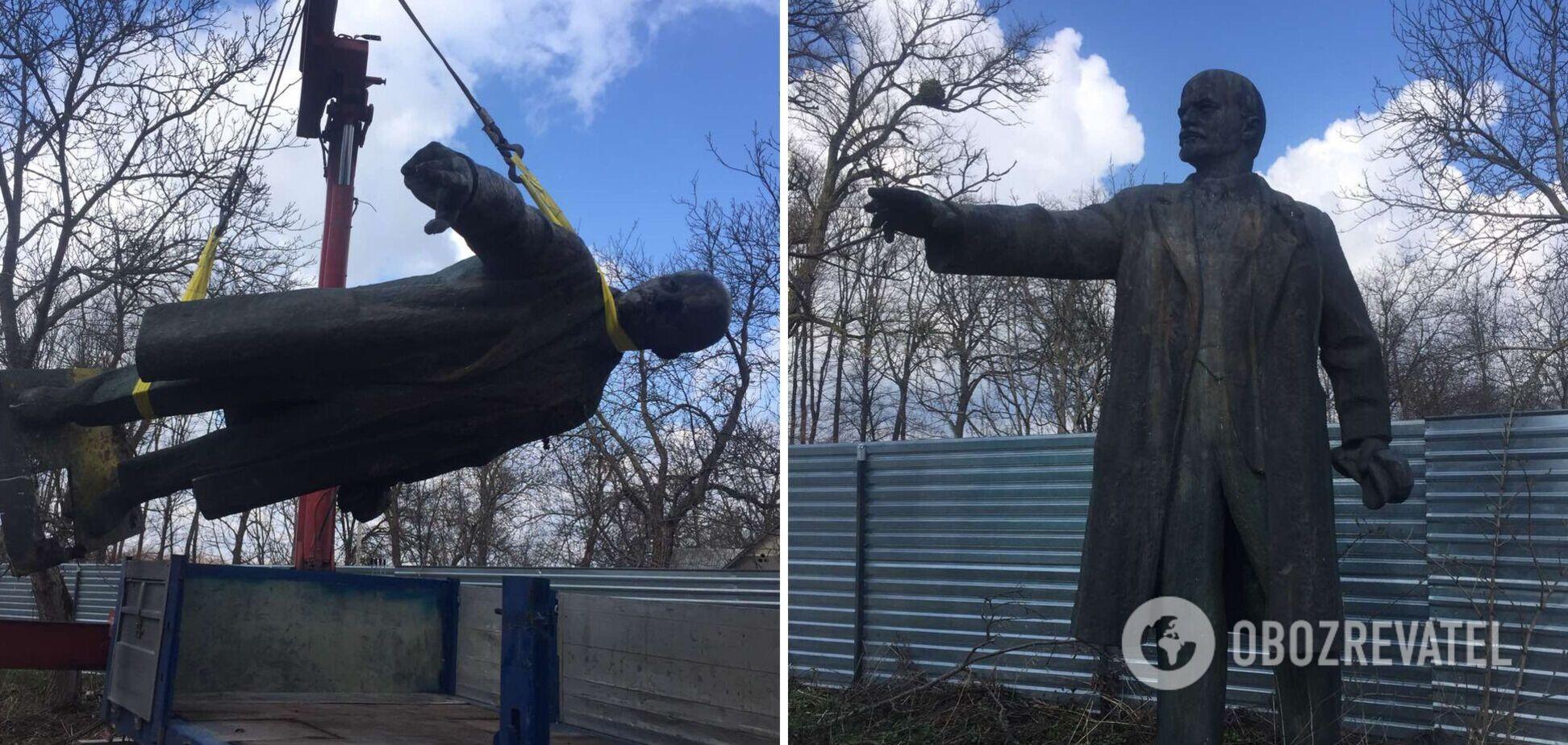 На Черкасщине с молотка ушел бронзовый Ленин: памятник уедет на Донбасс. Фото