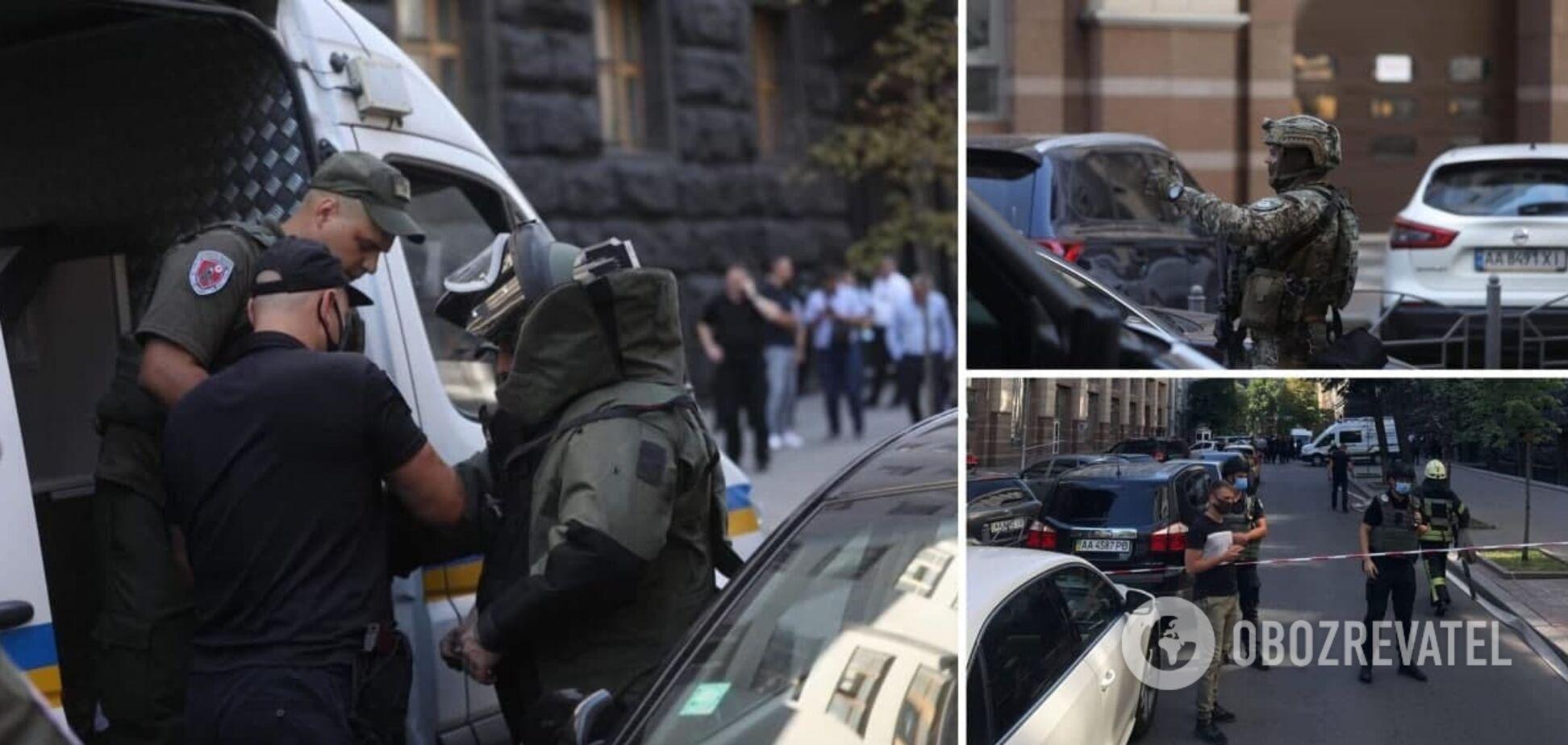 В Кабмин ворвался мужчина с гранатой и угрожал устроить взрыв: его задержали. Фото, видео и все подробности