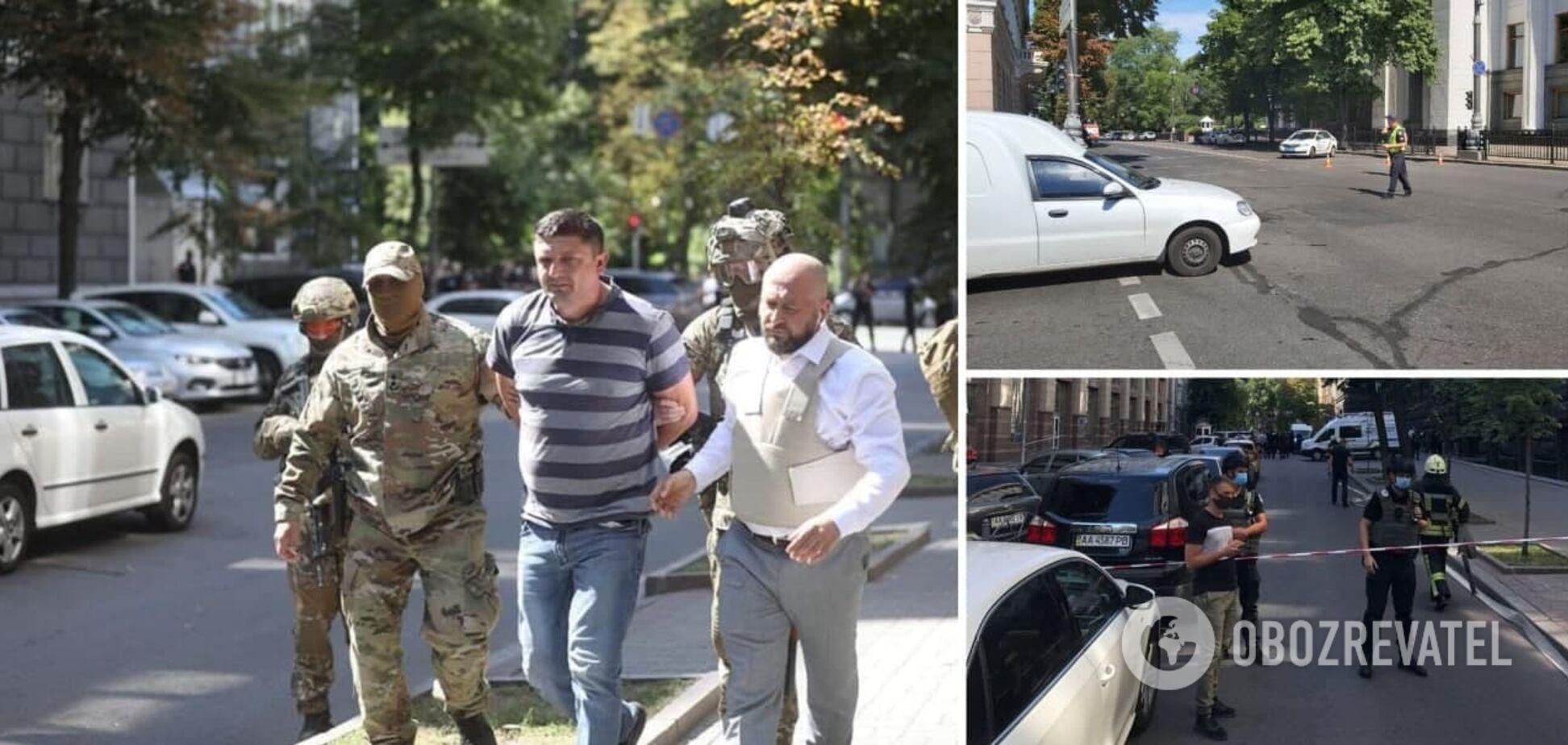 До Кабміну увірвався чоловік з гранатою і погрожував влаштувати вибух: його затримали. Фото, відео та всі подробиці