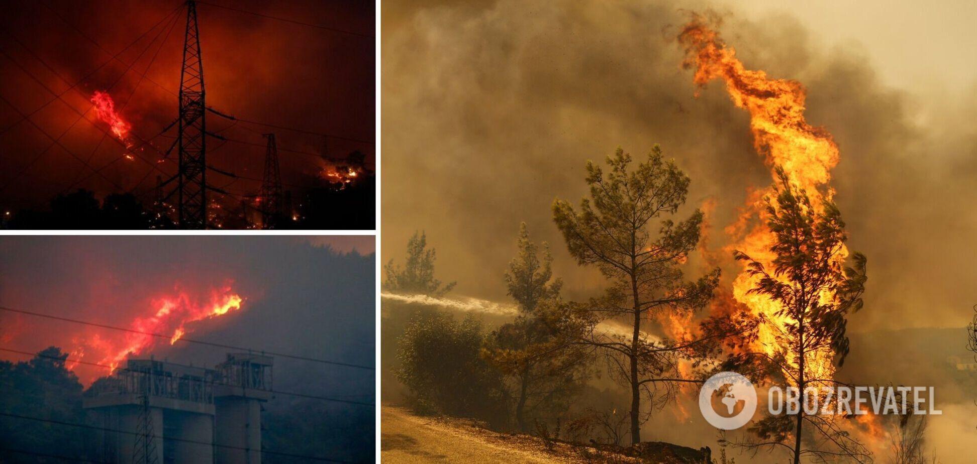 Лесные пожары в Турции горят больше недели