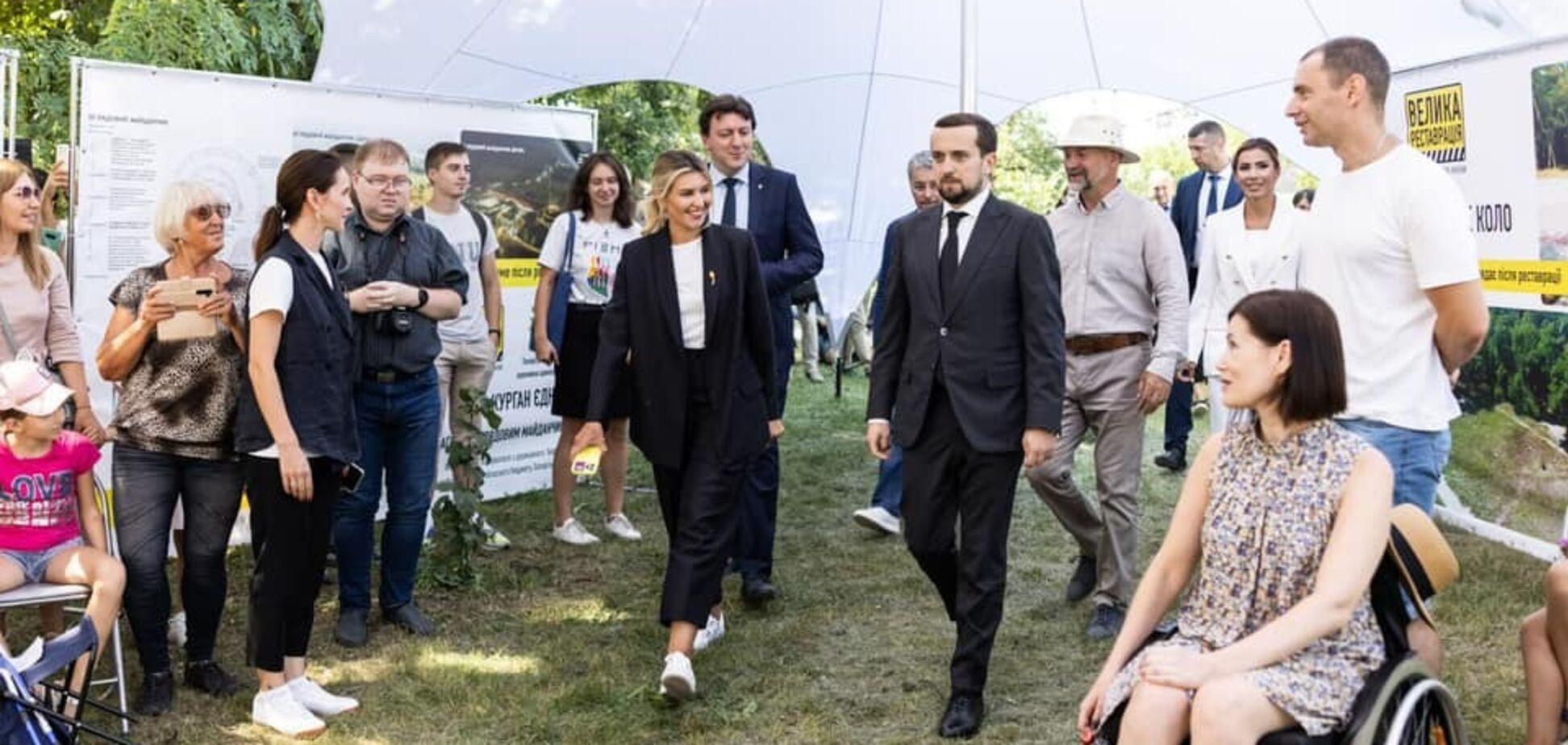 По инициативе Елены Зеленской Хортица станет первым полностью инклюзивным туристическим объектом страны
