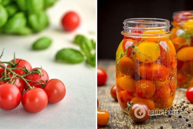 Как законсервировать помидоры черри: 2 необычных способа