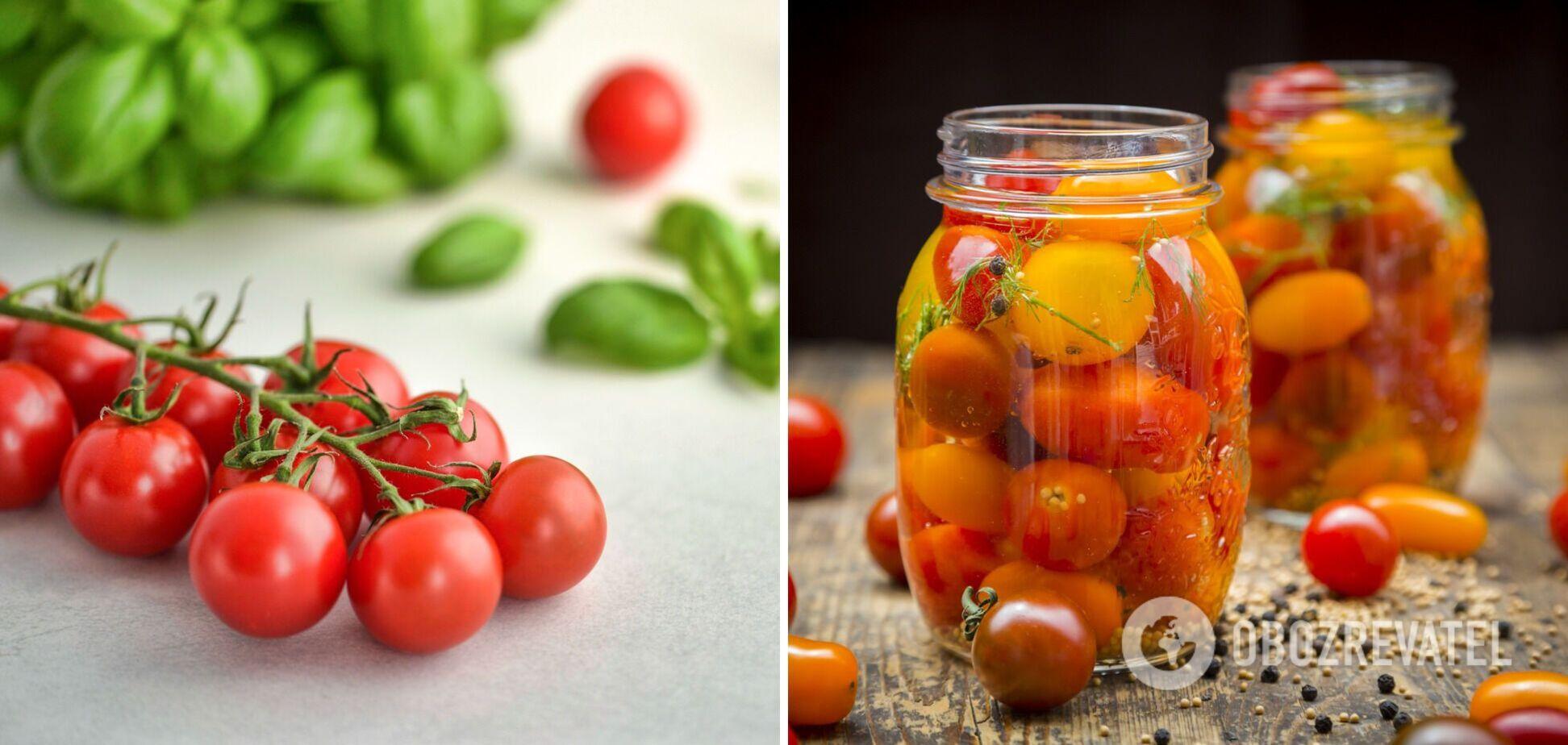 Как вкусно законсервировать помидоры черри