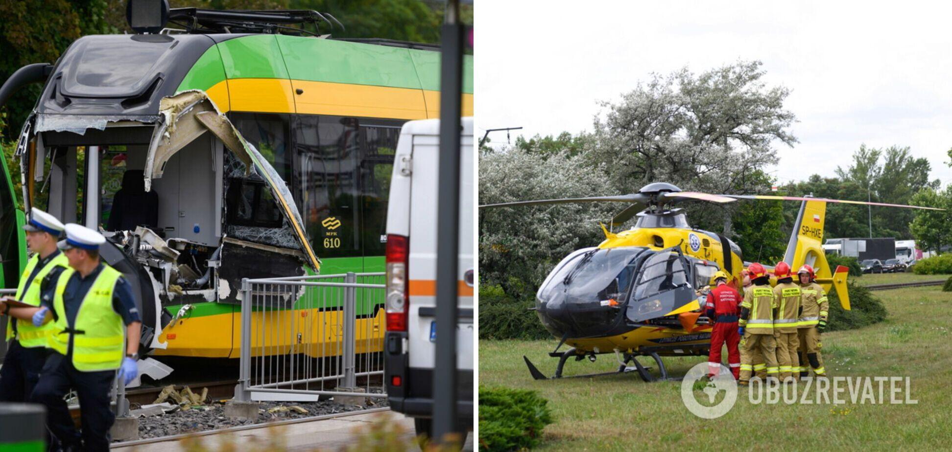 В Польше столкнулись трамваи, более 30 пассажиров получили травмы. Фото и видео