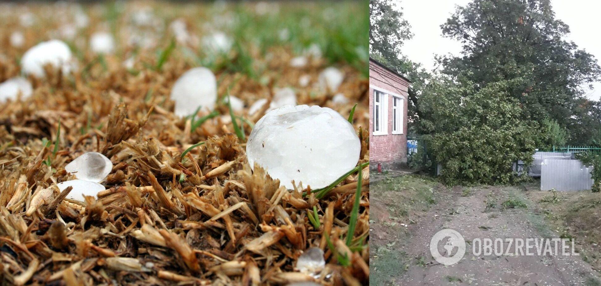 В России мощный ураган сносил все на своем пути, а град повредил машины. Фото и видео