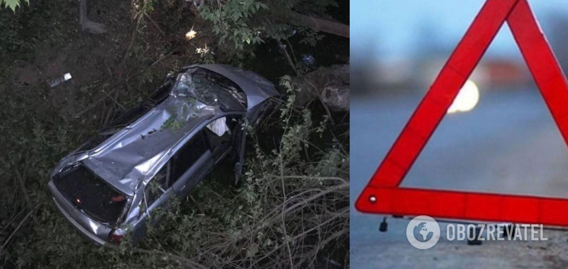У Харкові авто злетіло з моста в річку, пасажири врятувалися дивом. Фото і відео