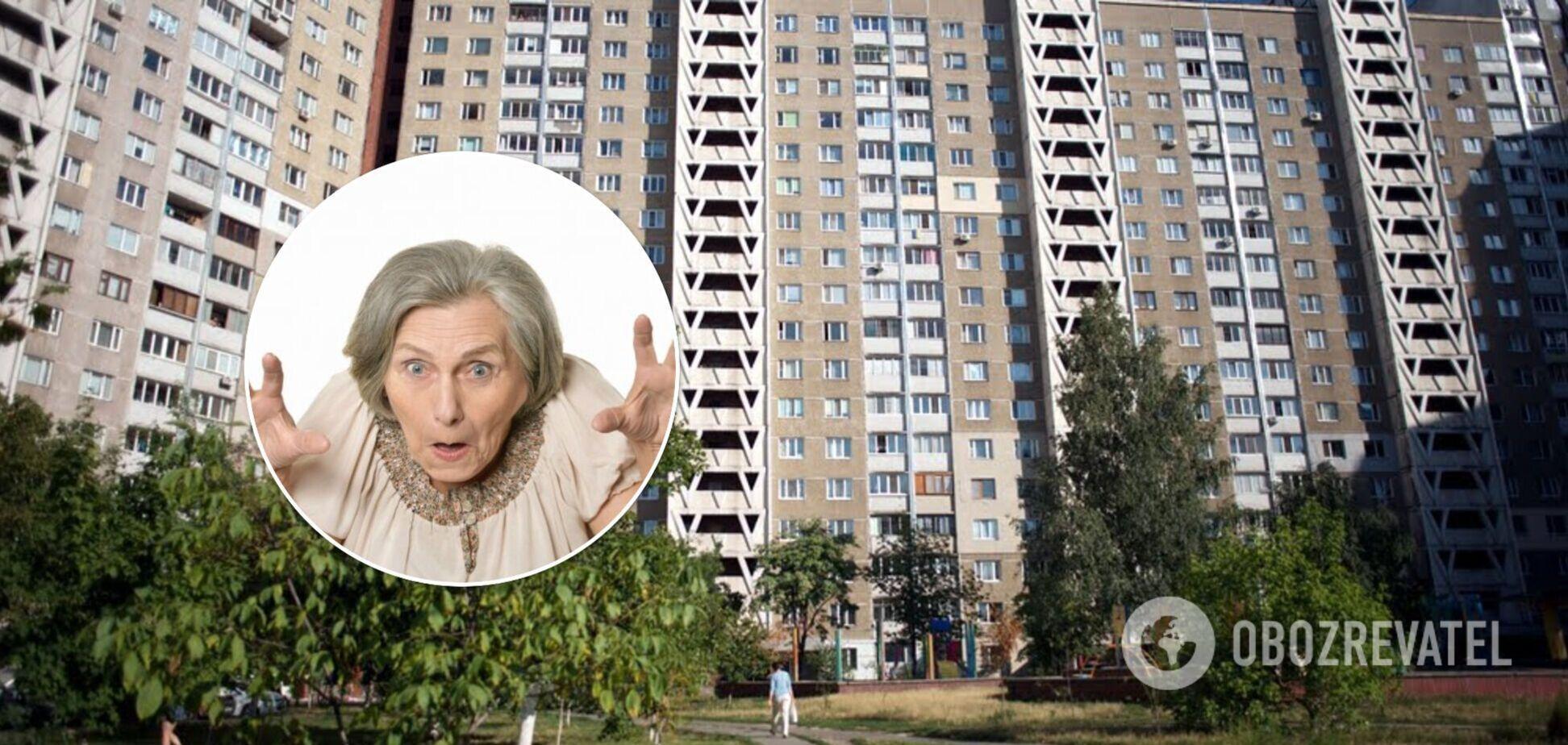 У Києві на Теремках бабуся кидала в дітей посуд, а потім затопила сусідів. Відео
