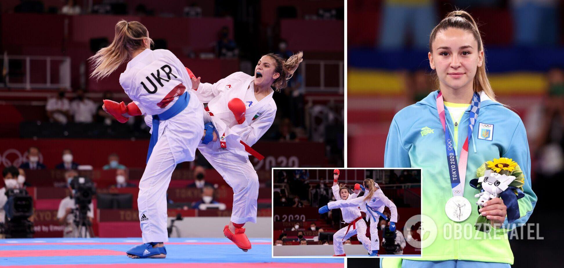 Каратистка Терлюга принесла Украине третье 'серебро' на Олимпиаде-2020. Фото и видео