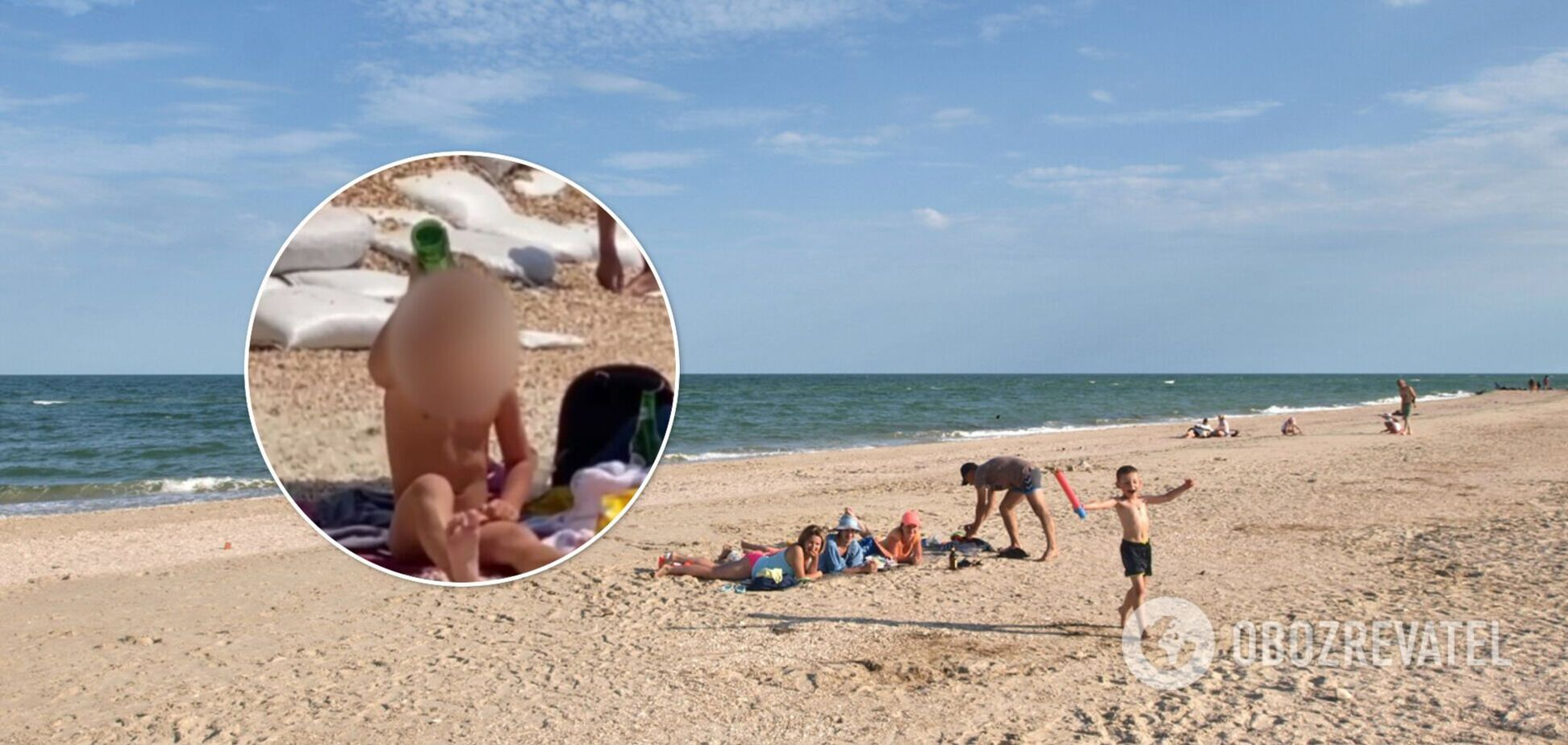 В Кирилловке заметили маленького мальчика с бутылкой пива. Видео