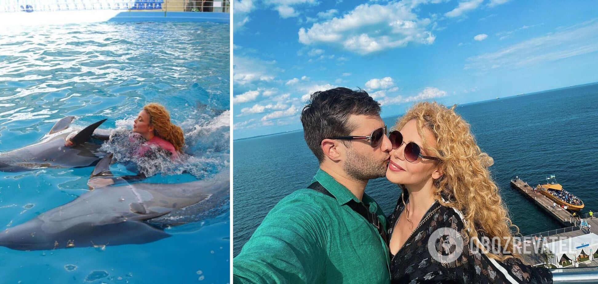 Аліна Гросу зі своїм 37-річним коханим поплавали з дельфінами. Фото