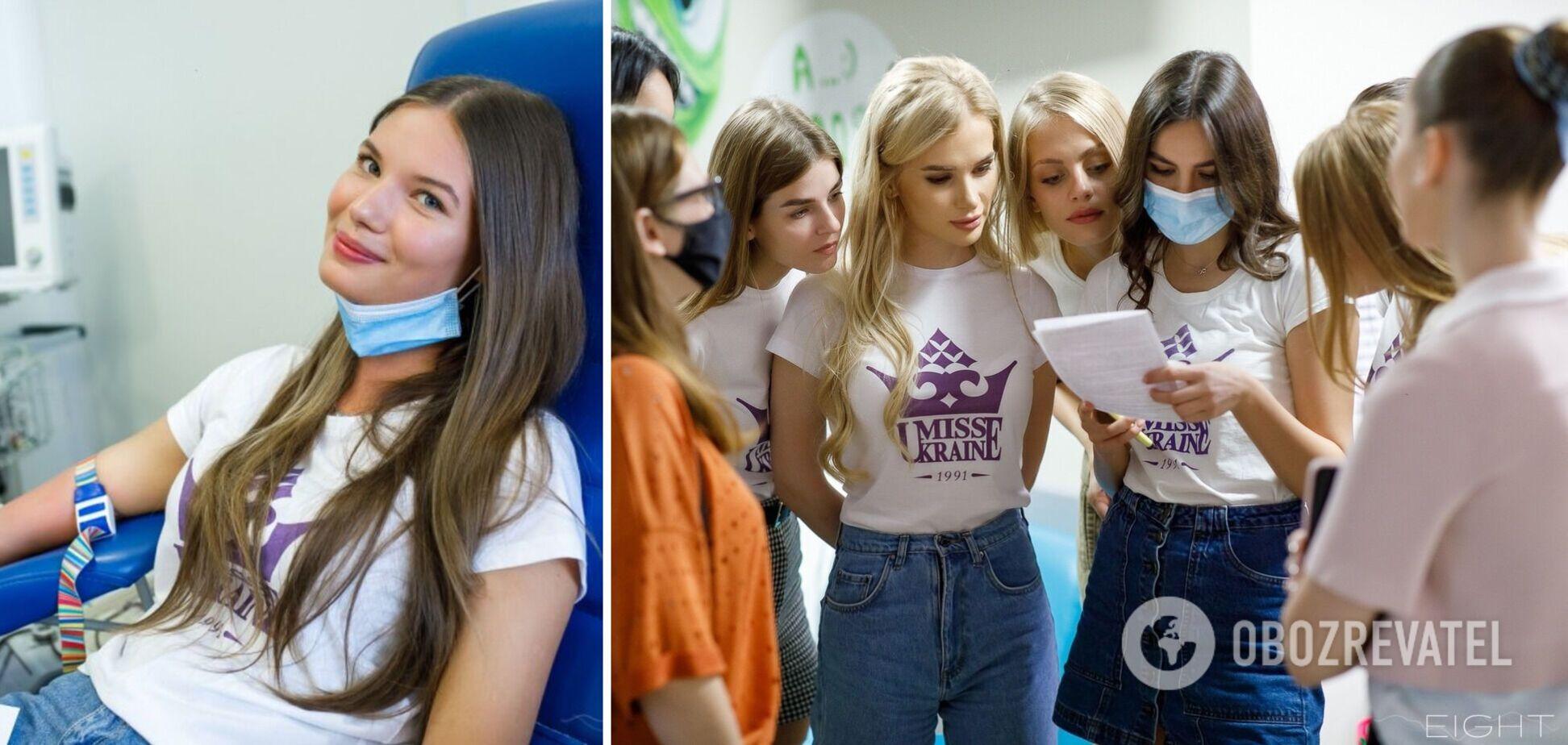 Представительницы конкурса 'Мисс Украина' стали донорами крови для детской больницы 'Охматдет'
