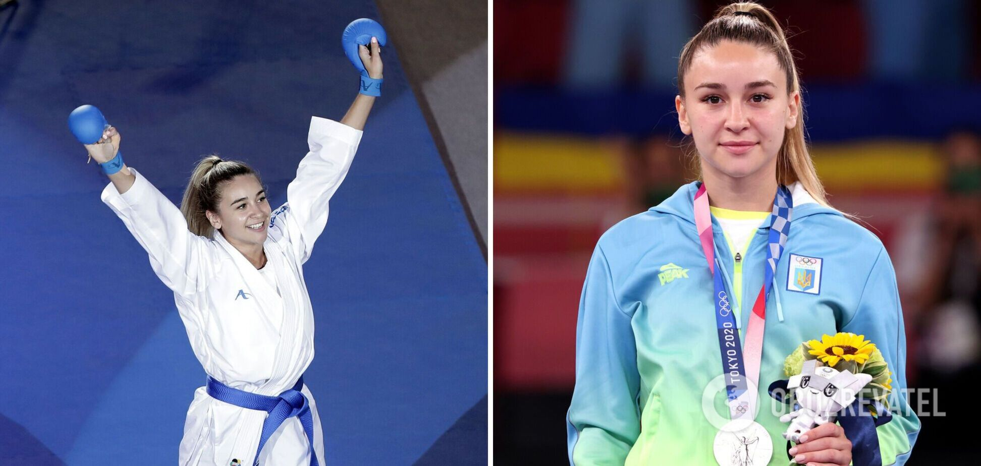 Красивейшая каратистка Украины взяла 'серебро' Олимпиады: появилось видео церемонии награждения