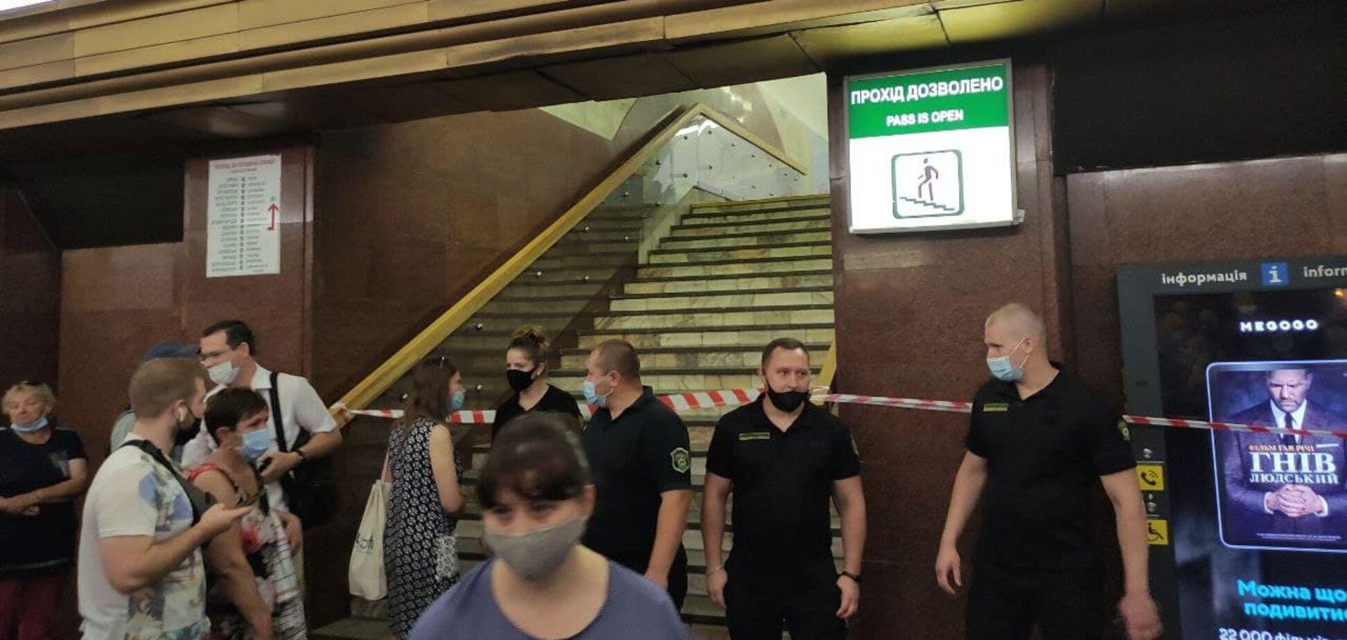 У переході між станціями метро в Києві знайшли підозрілий предмет