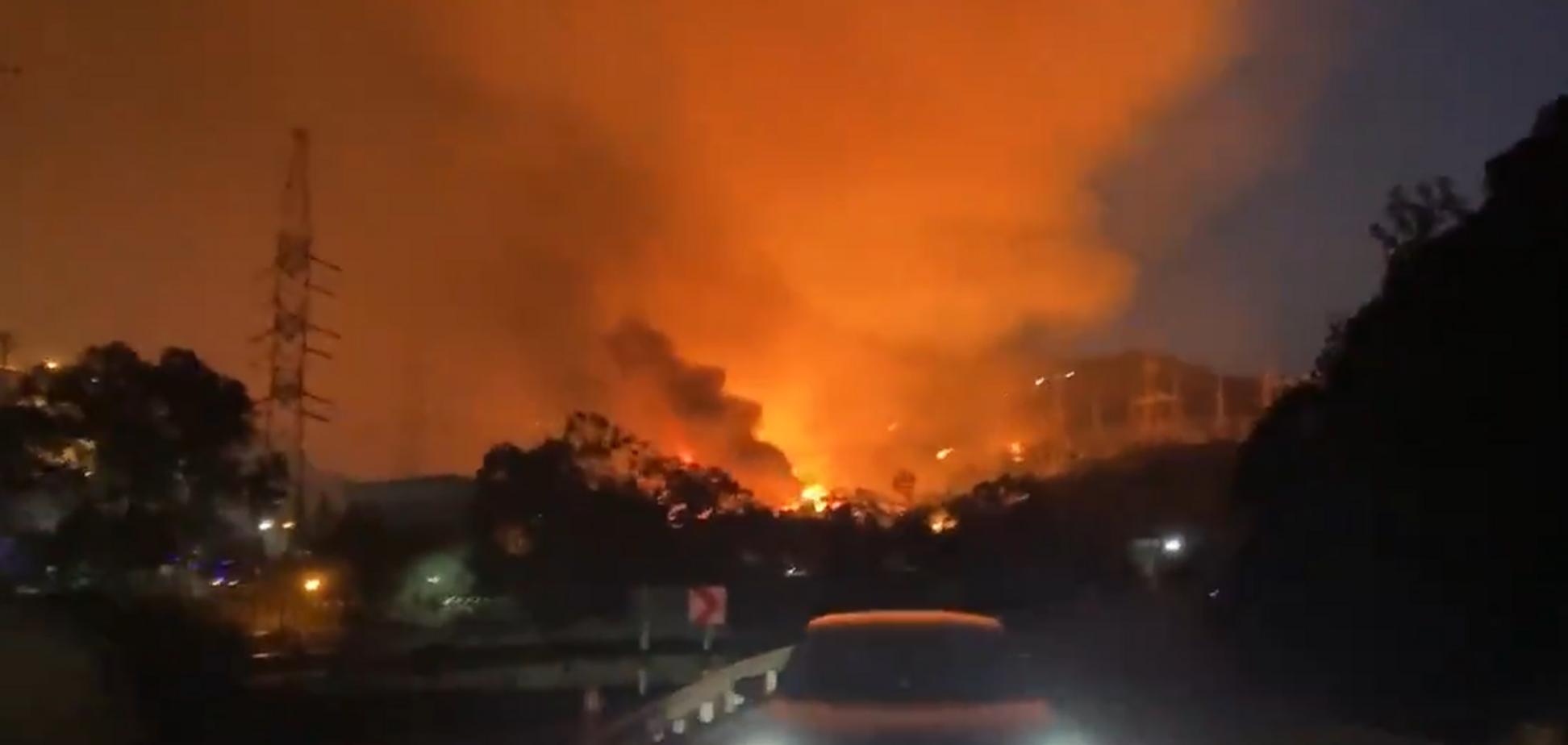 Лісова пожежа в Туреччині охопила ТЕЦ