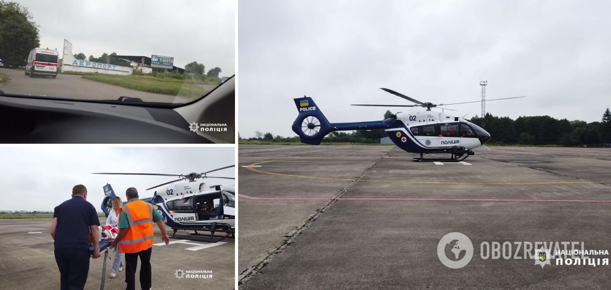 Ребенка вертолетом перевезли в столицу