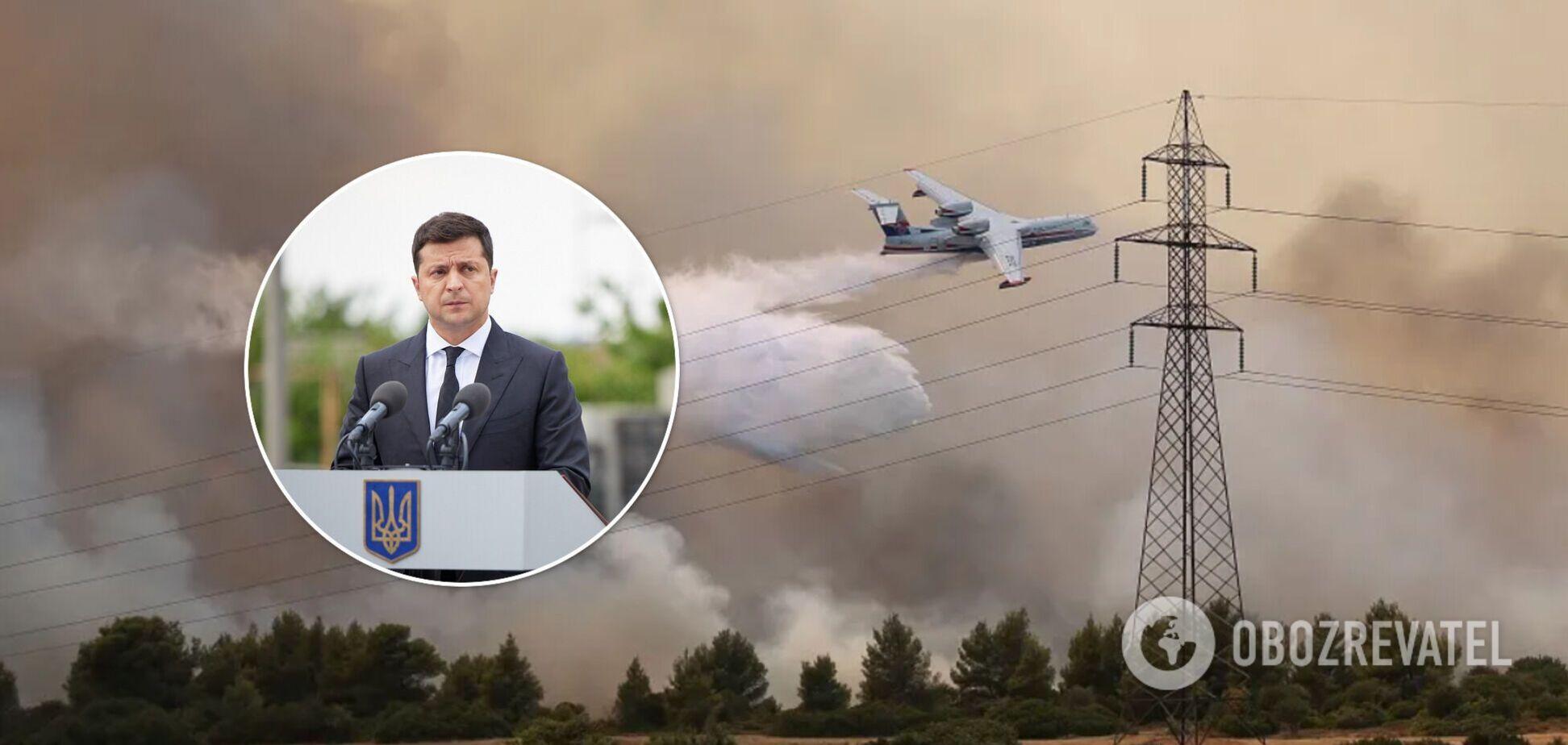 Україна допоможе Греції в гасінні лісових пожеж, – Зеленський