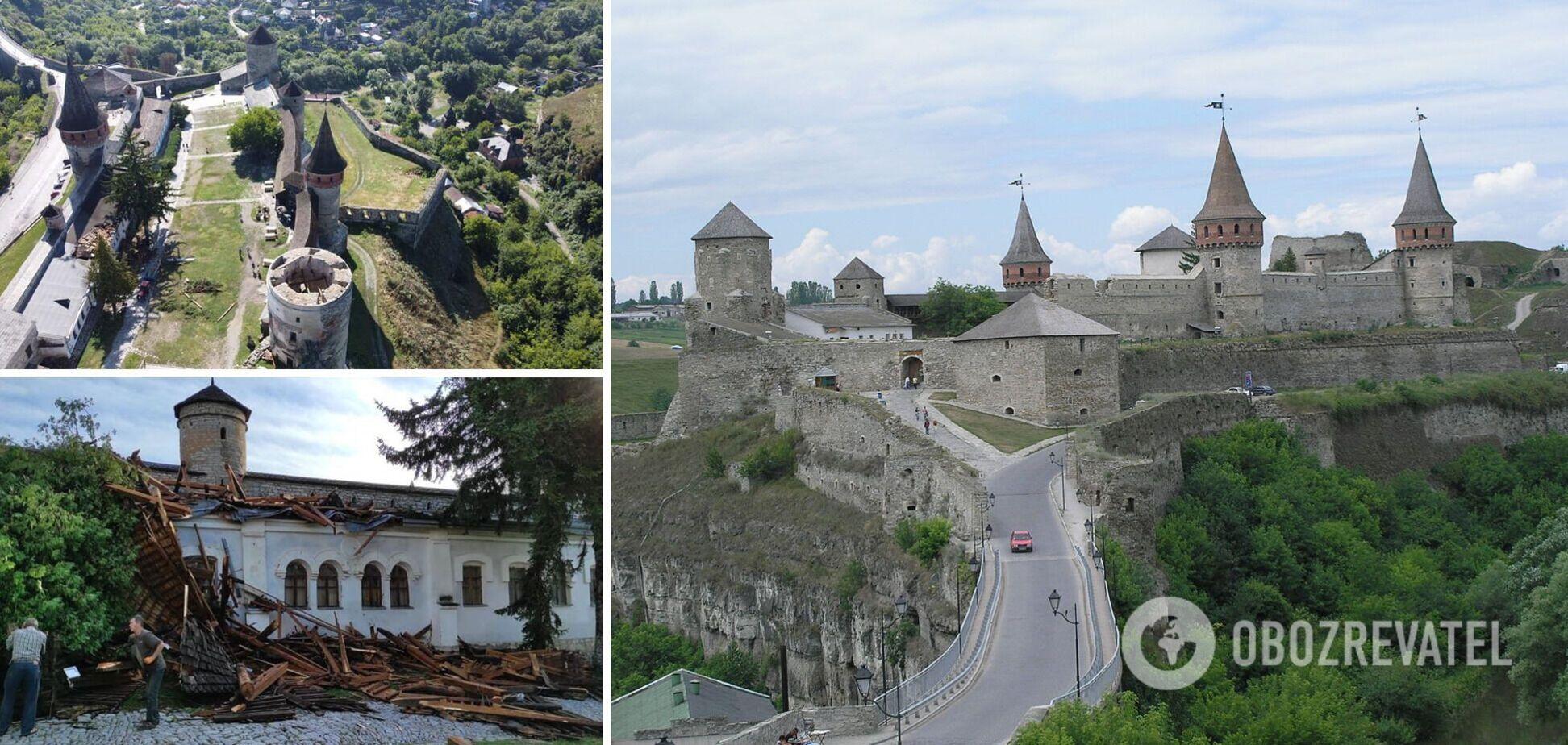 Крепость в городе Каменец-Подольский повредил ураган