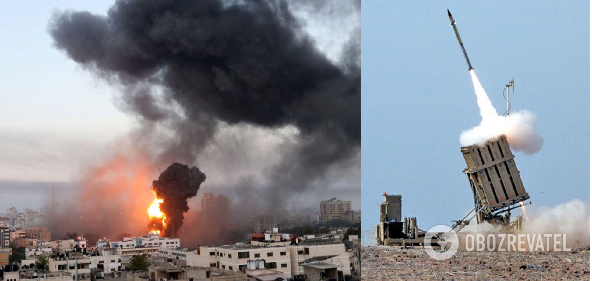 Ізраїль завдав удару по сектору Гази у відповідь на атаки ХАМАС. Відео