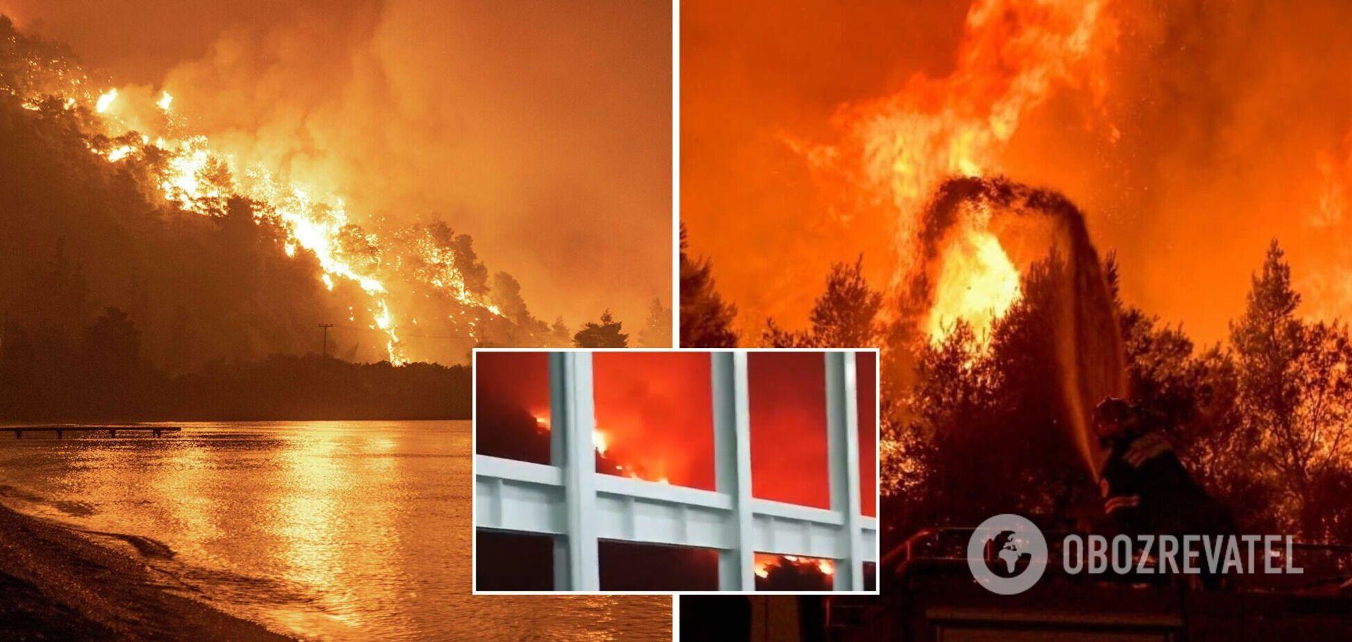 Грецію через лісові пожежі назвали 'філією пекла', є загиблі. Відео