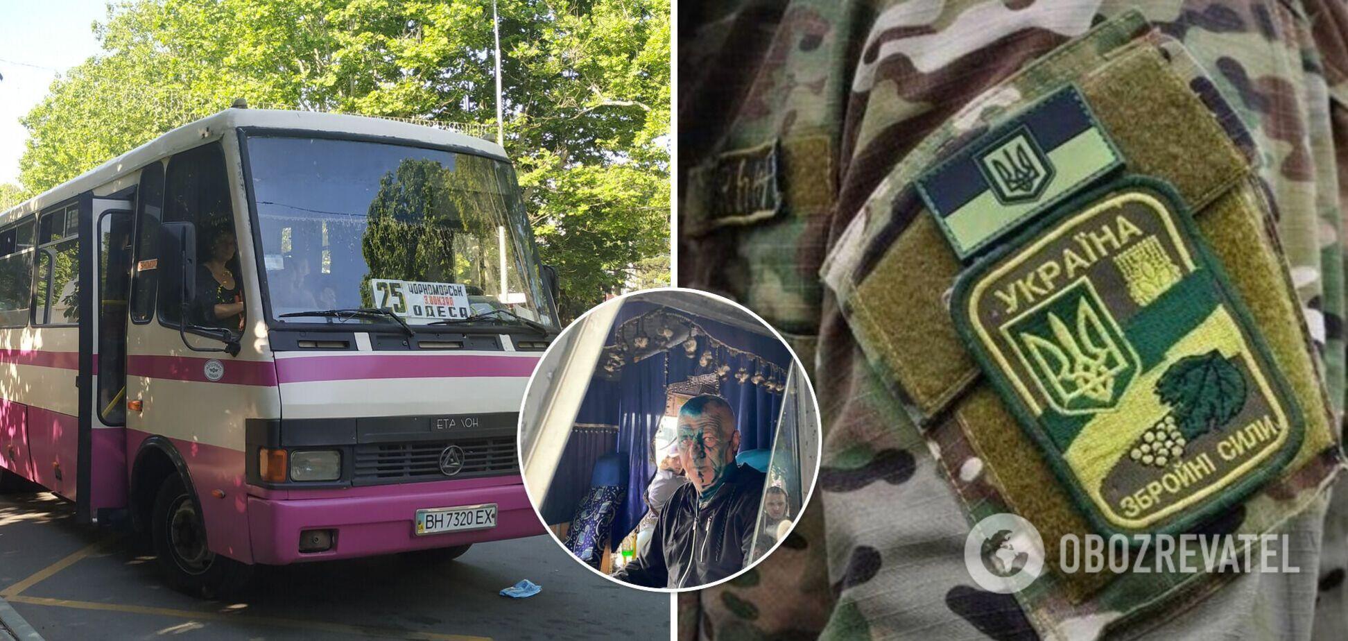 Під Одесою водій маршрутки відмовив ветерану АТО в пільговому проїзді: його провчили зеленкою. Фото