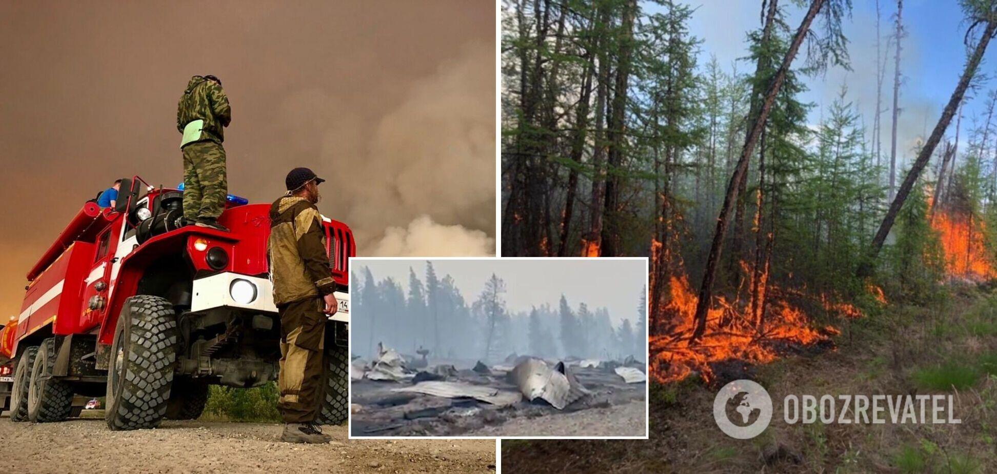 Сгоревшие авто и разрушенные дома: последствиях масштабных пожаров в России показали на видео