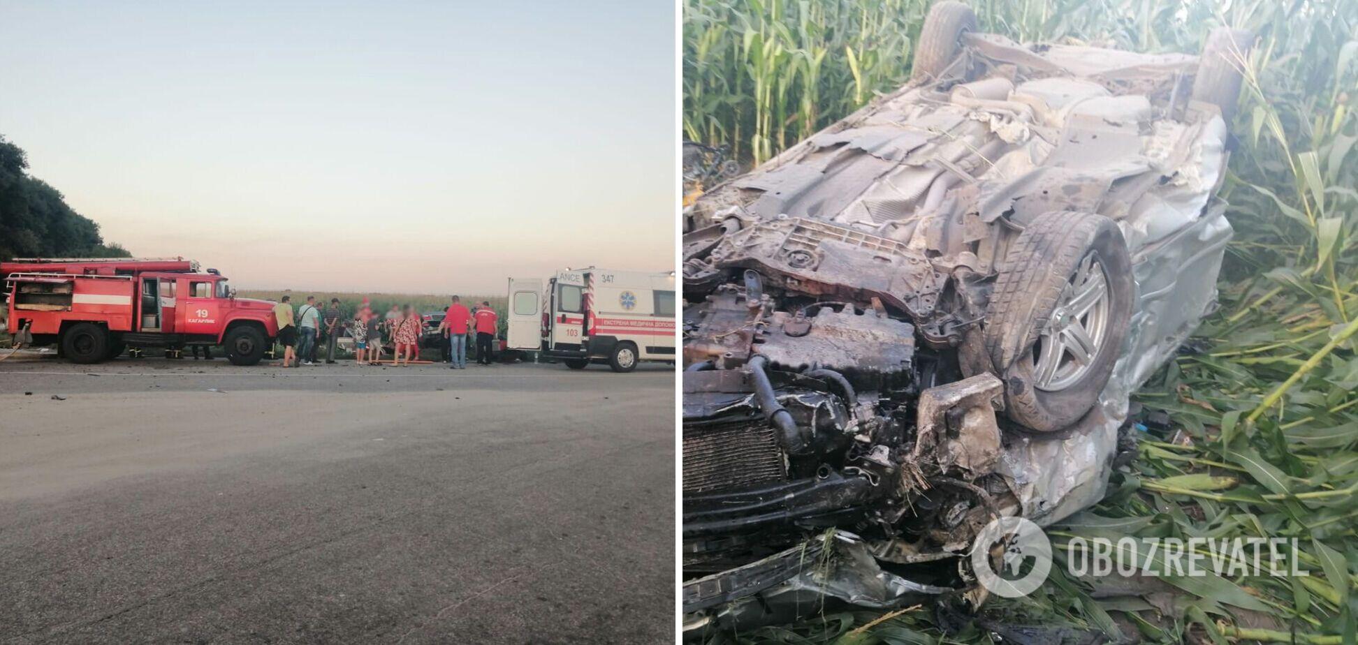 На Київщині зіткнулися два автомобілі, загинула однорічна дитина. Фото