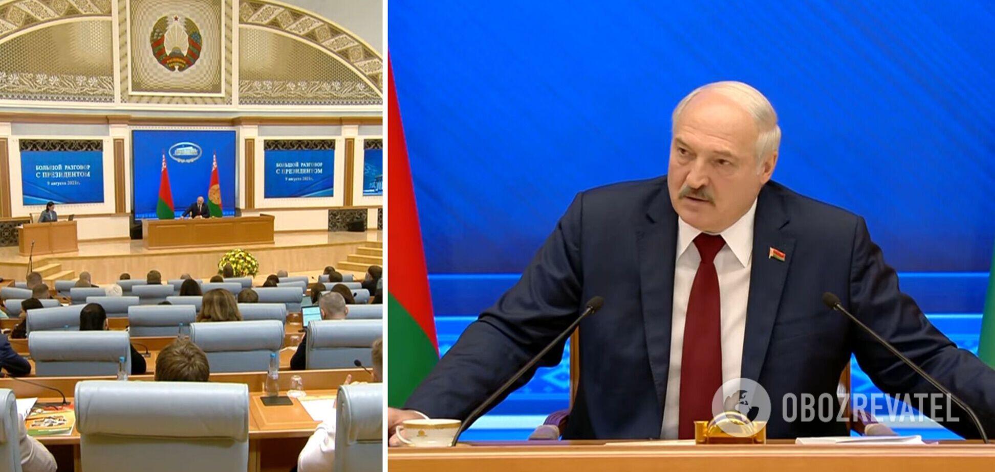 Олександр Лукашенко під час 'Великої розмови'