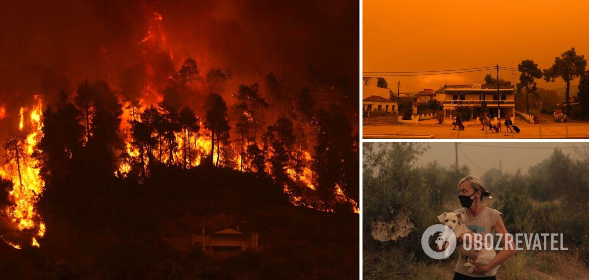 Лісові пожежі в Греції 2021