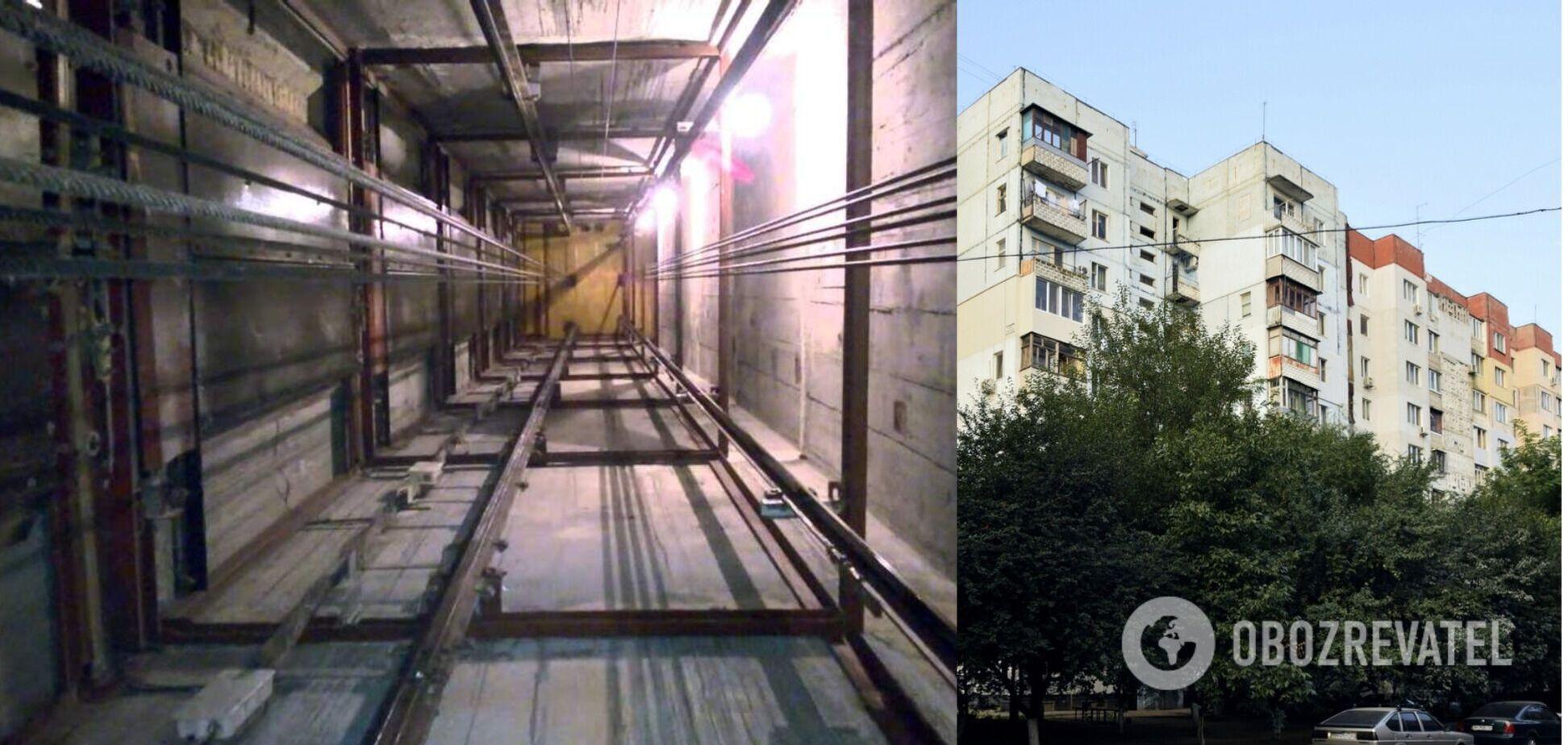 В Одесі обірвався ліфт