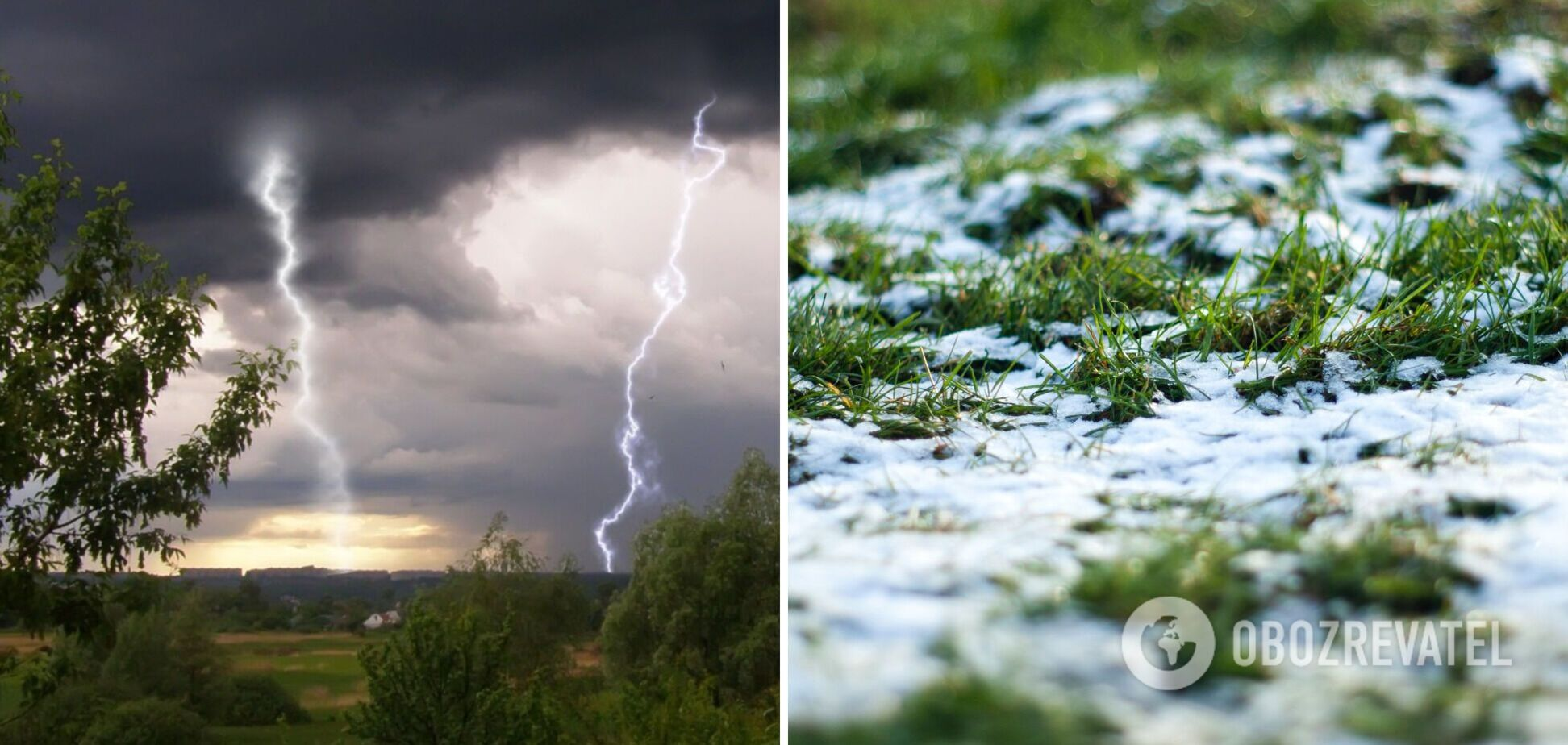 'Мокрый снег', +32 и грозы: синоптики удивили прогнозом погоды на вторник. Карта