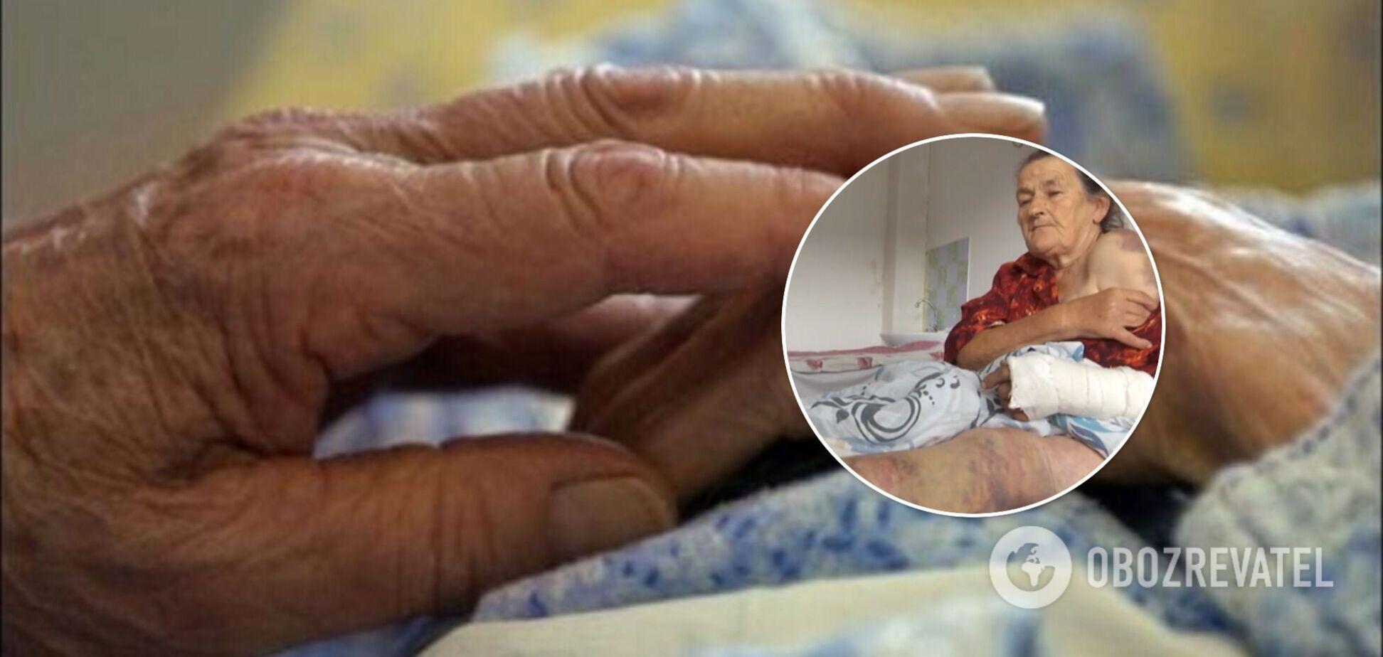 На Львівщині розгорівся скандал навколо побиття пенсіонерки: звинувачує у всьому старосту села. Відео