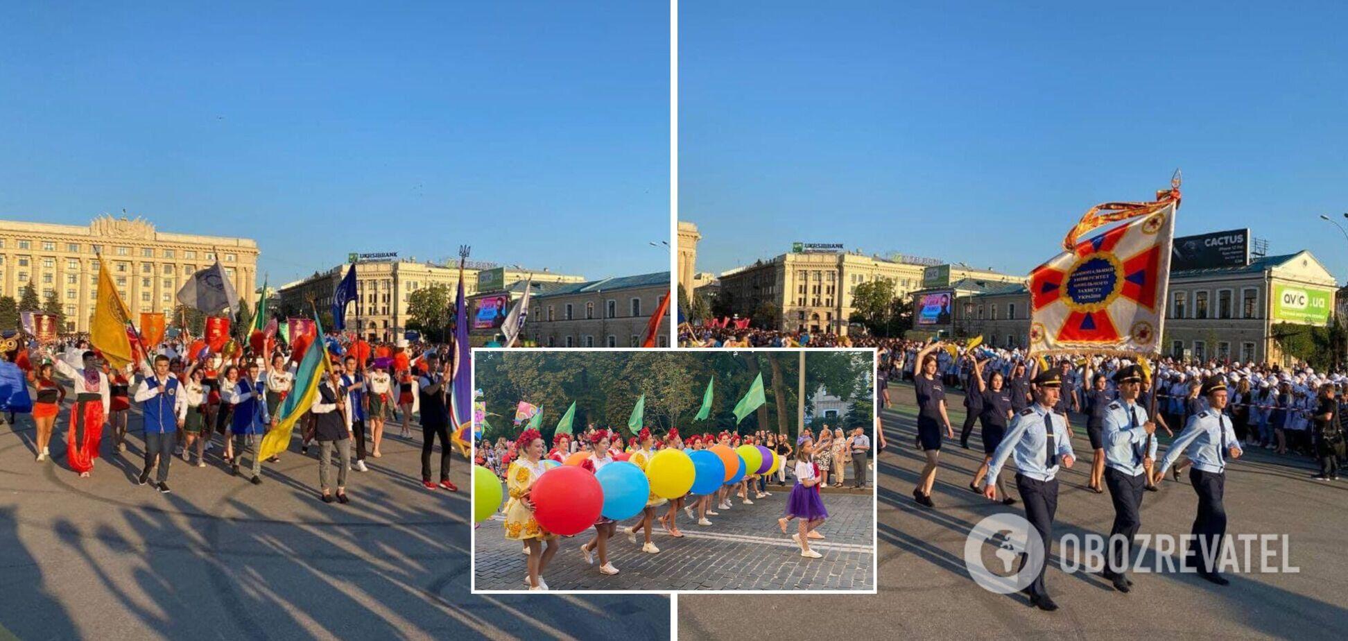 В Харькове прошло шествие, приуроченное ко Дню знаний