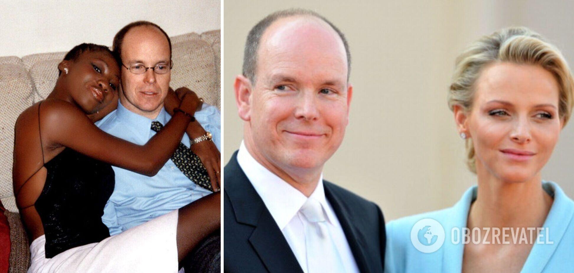 Князь Монако пришел на бал с экс-любовницей, пока его жена лечится в ЮАР