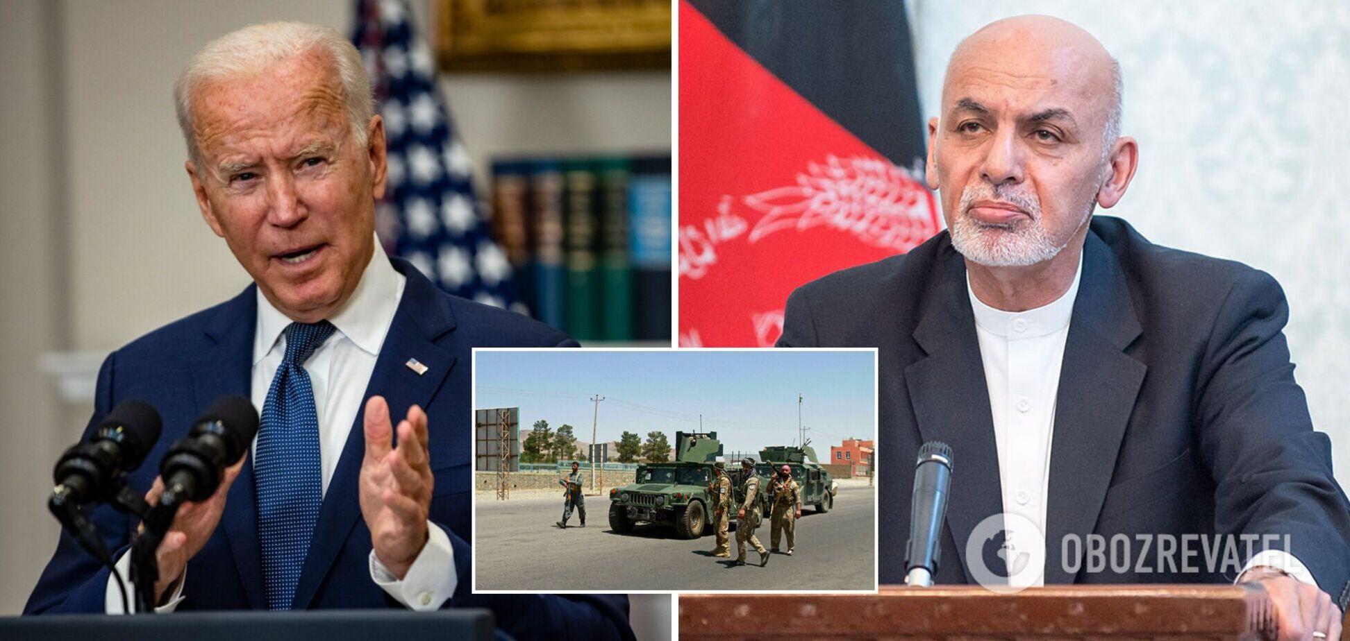 Байден за три недели до захвата Кабула призывал президента Афганистана сменить военную стратегию – Reuters