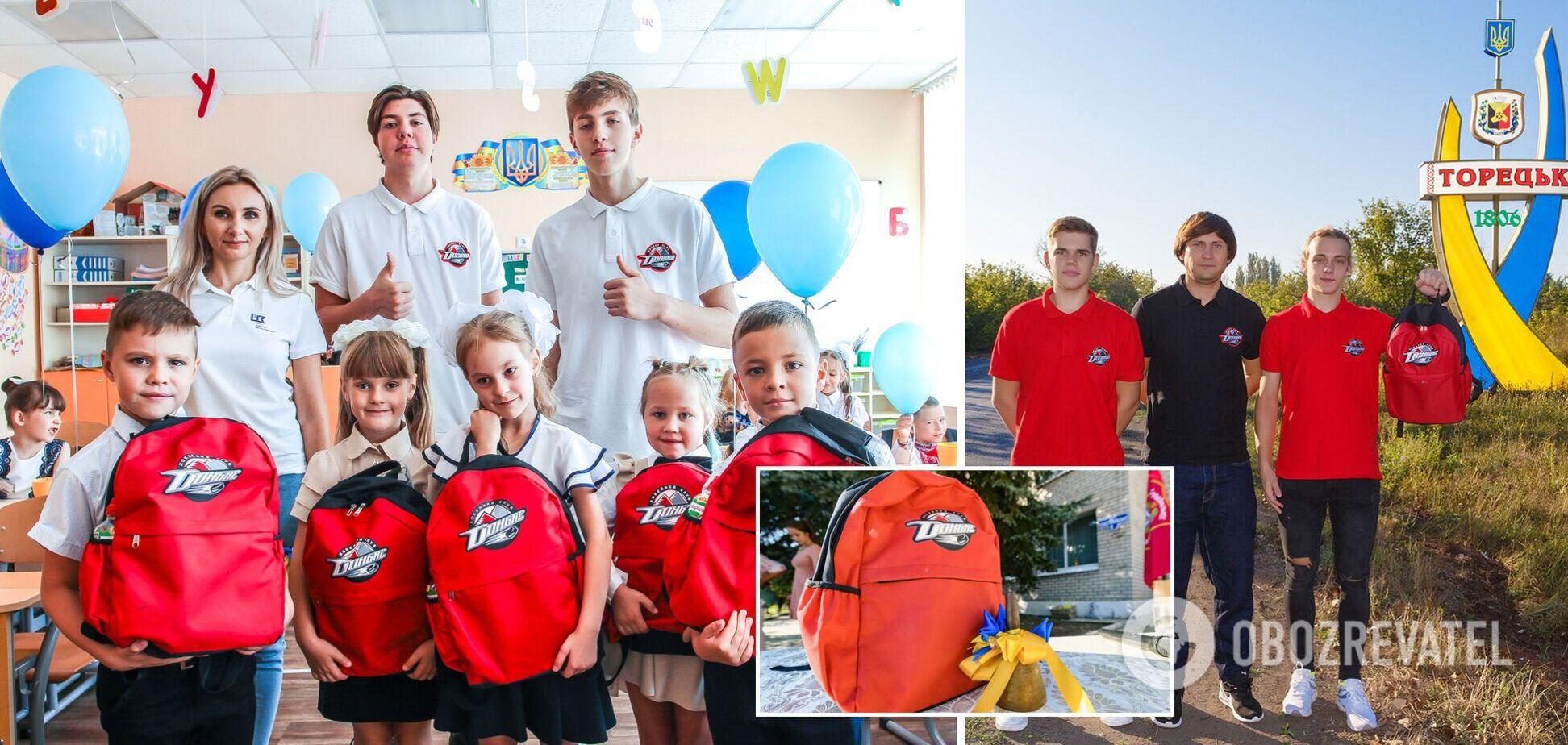 День знаний на Донбассе: первоклассников поздравили благотворители и хоккеисты