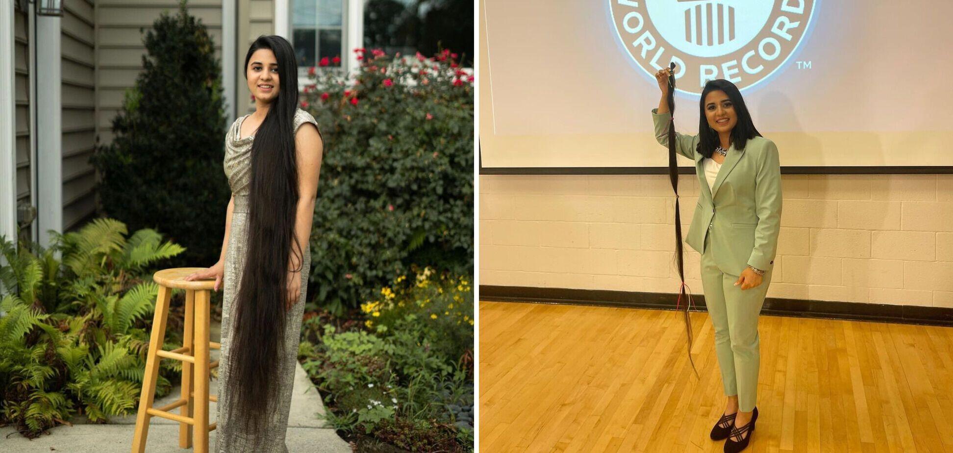 Мешканка США відрізала майже 2 метри волосся і потрапила в Книгу рекордів Гіннеса. Фото до і після