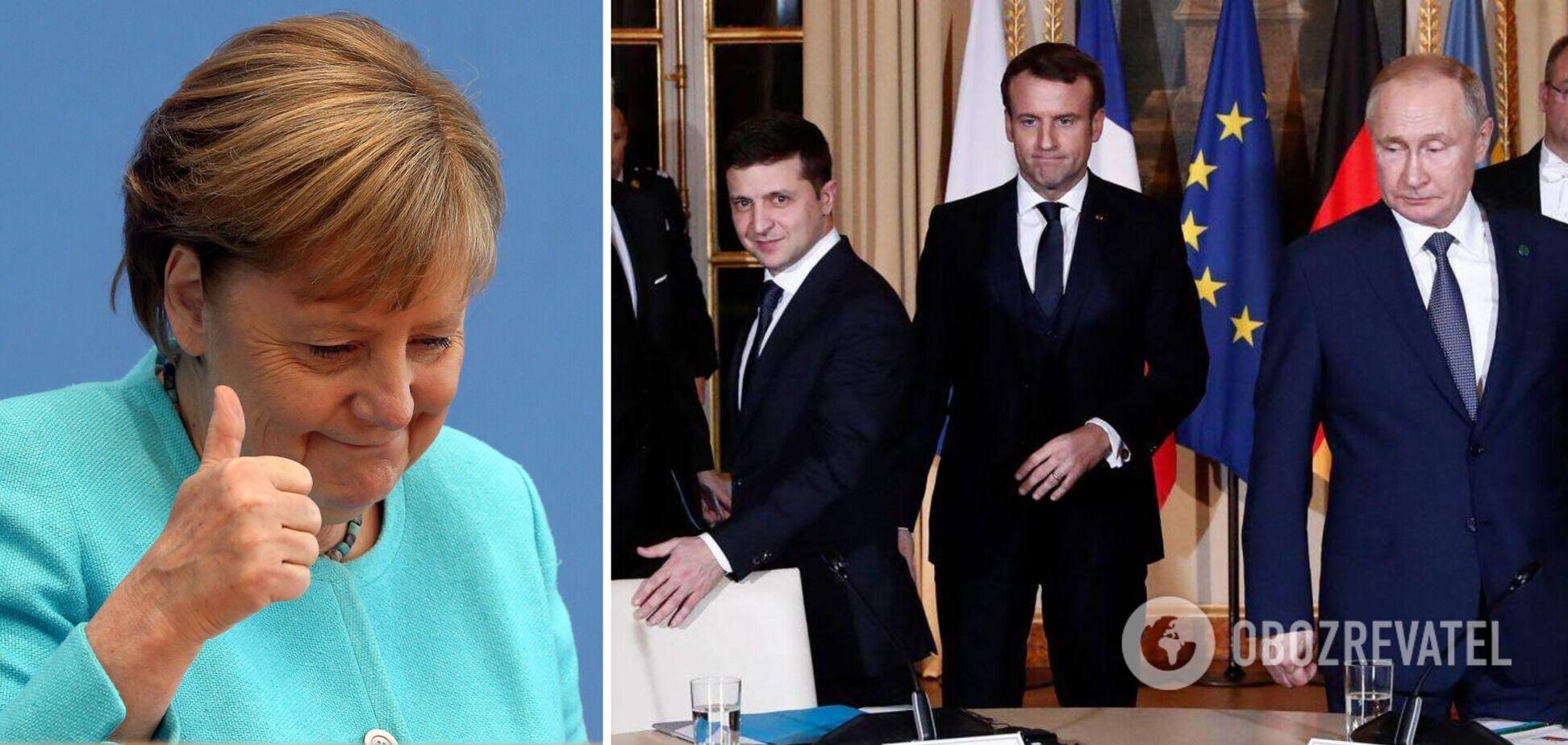 Меркель до конца каденции хочет организовать встречу 'нормандской четверки': выяснились подробности