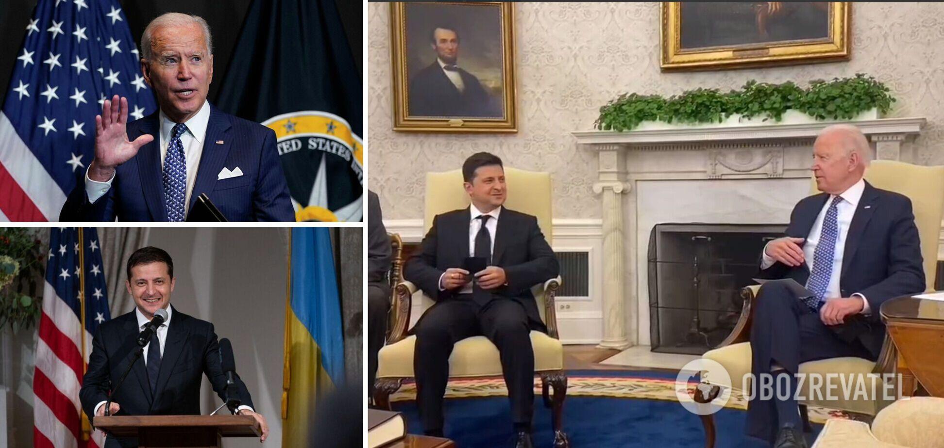 Протидія агресії РФ, 'Північний потік-2' і допомога Україні: як пройшли переговори Зеленського і Байдена. Фото і відео
