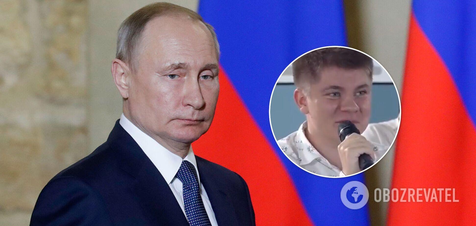 Школяр поправив Путіна на відкритому уроці: директорка школи його розкритикувала. Відео