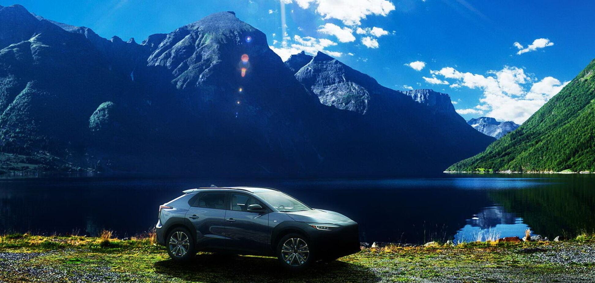 Subaru показала нові тизери електромобіля Solterra