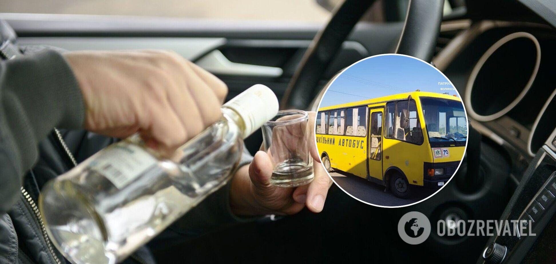 На Волині водія шкільного автобуса спіймали п'яним за кермом. Фото