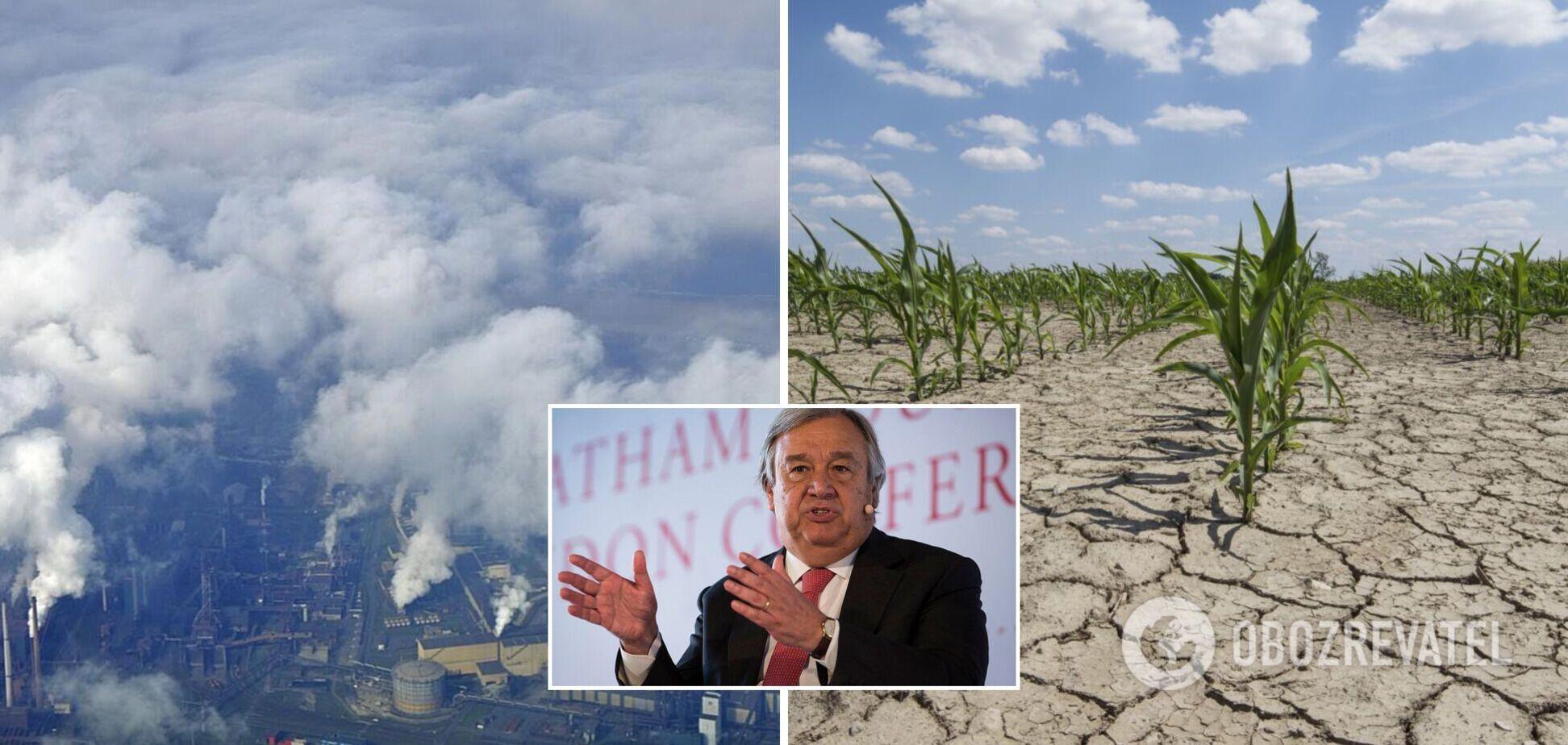 Антониу Гутерреш предостерег человечество от деятельности, которая ускоряет глобальное потепление на планете