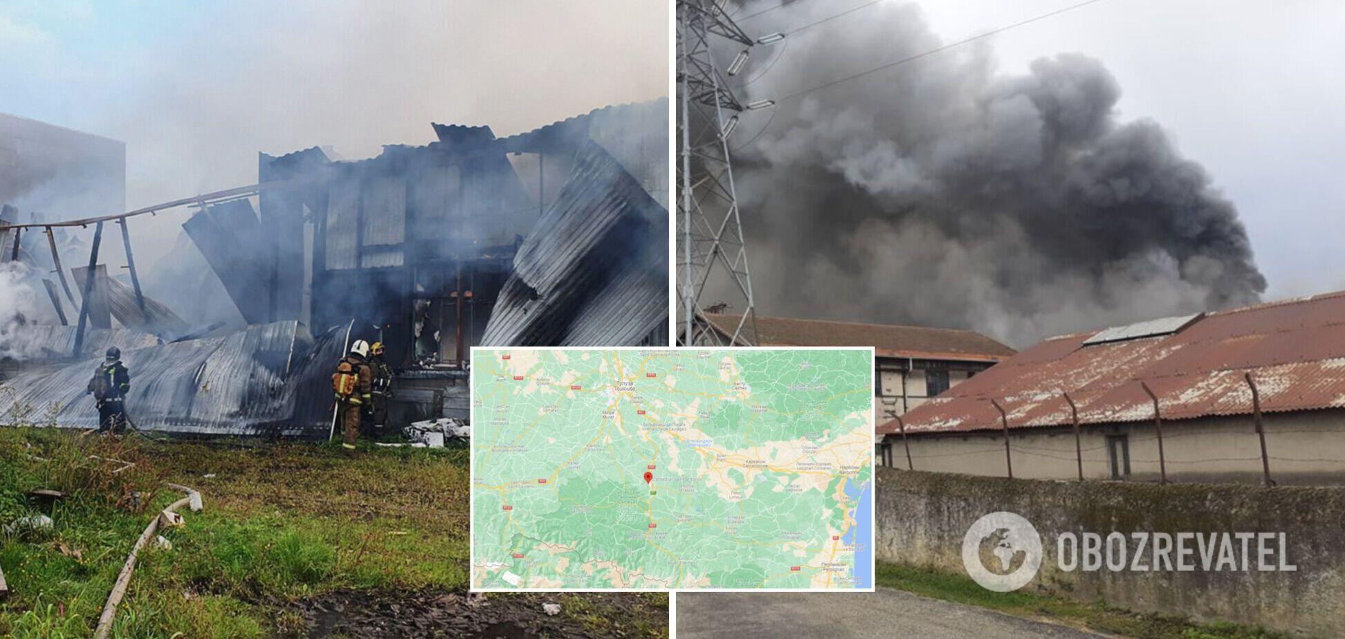 У Франції горів металургійний завод: у повітря потрапив токсичний дим. Відео