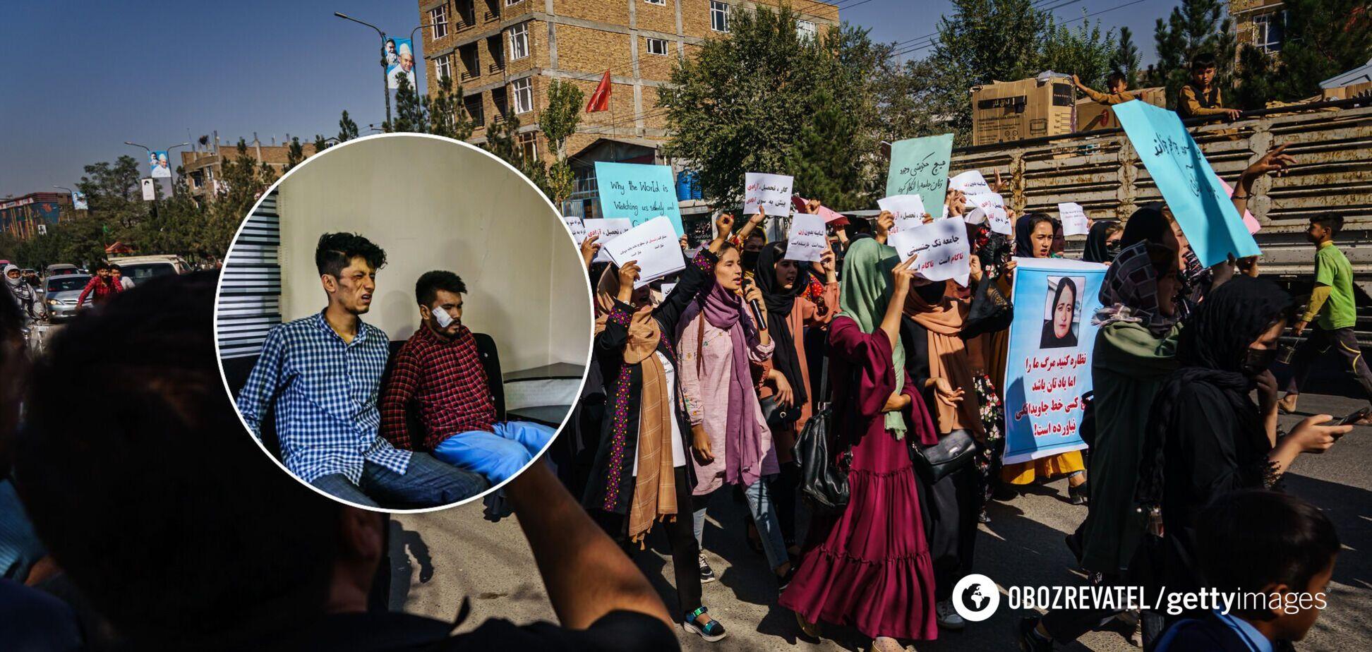 Талибы избили журналистов, которые освещали акцию протеста в Кабуле. Фото 18+