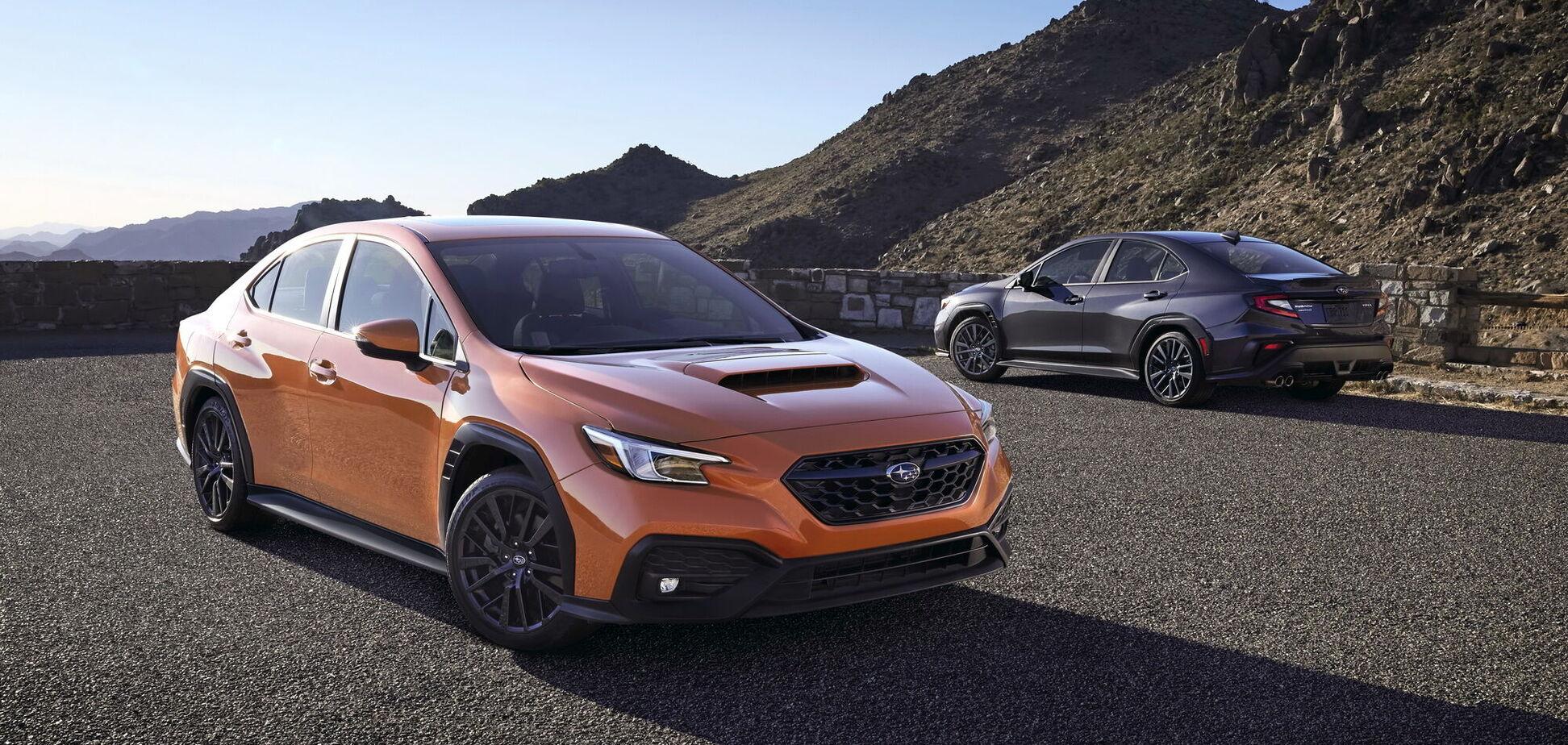 Subaru презентувала п'яте покоління седана WRX