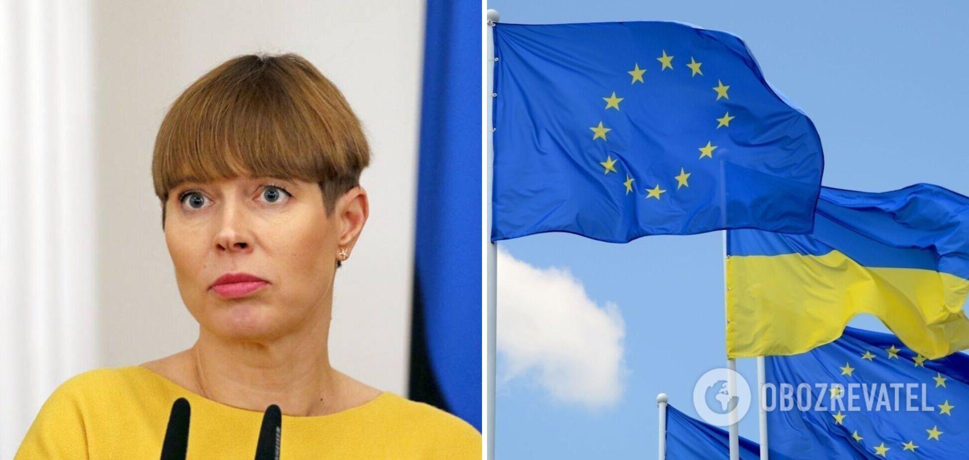 Президент Эстонии заявила, что Украину отделяют от ЕС 'световые годы'